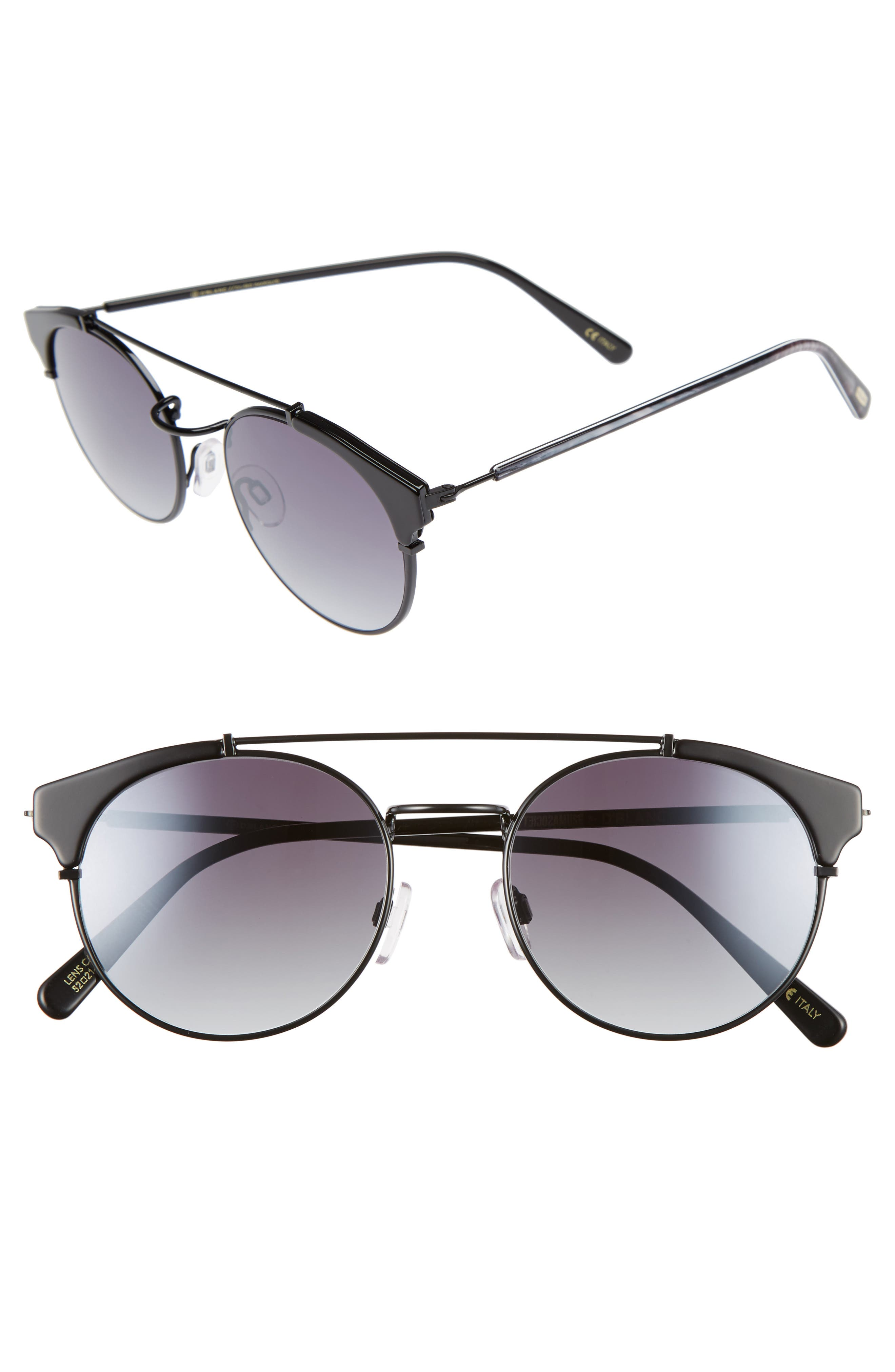 D'BLANC x Amuse Society Dosed Marquis 52mm Gradient Round Aviator Sunglasses,                             Main thumbnail 2, color,