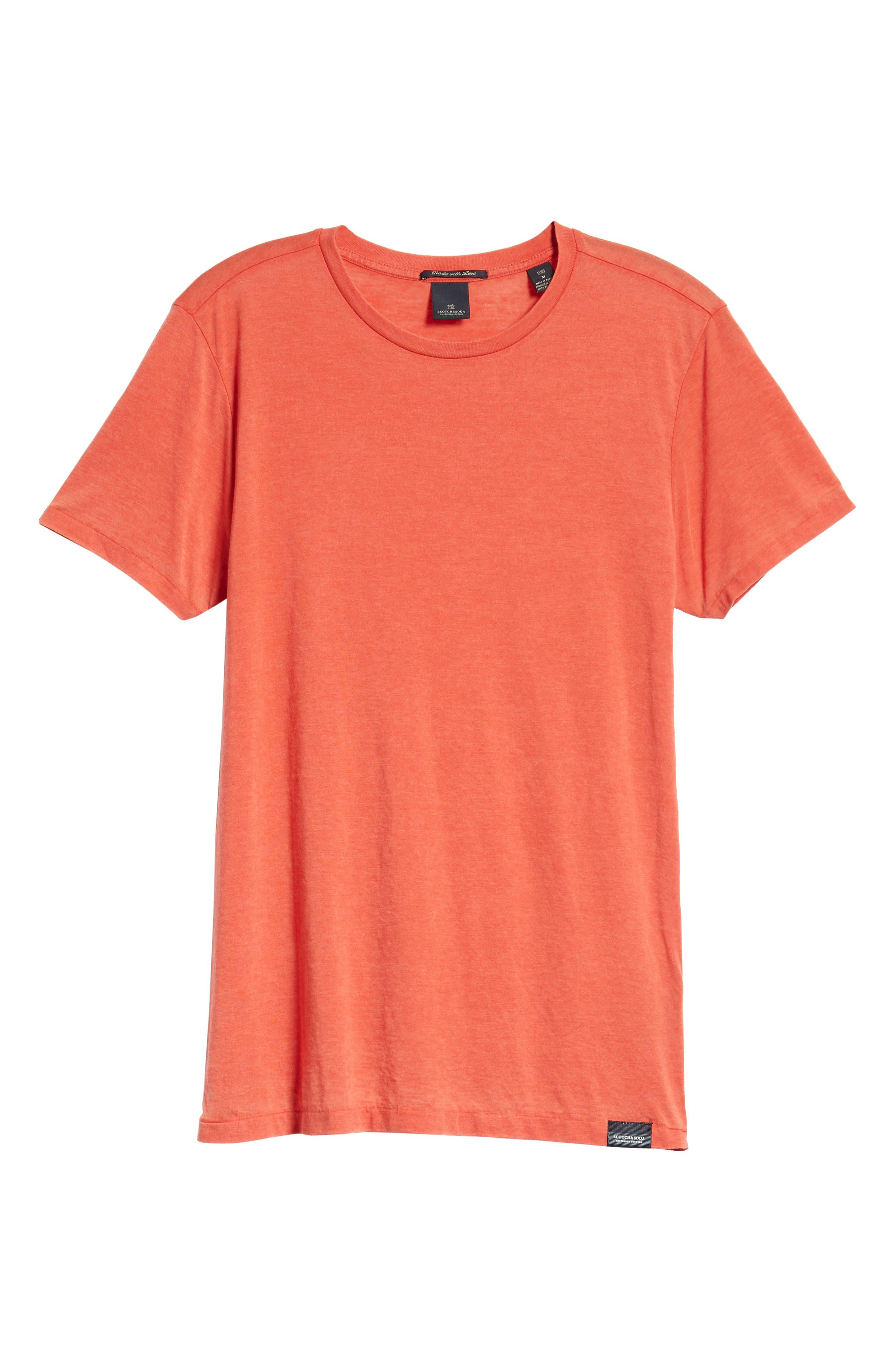 Burnout T-Shirt,                             Alternate thumbnail 6, color,                             RED MELANGE