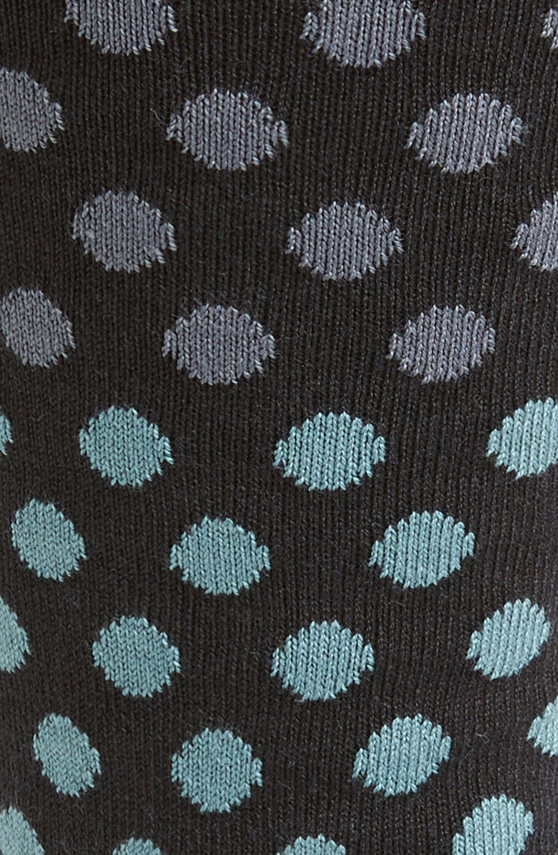 'Dot Dégradé' Socks,                             Alternate thumbnail 2, color,                             001