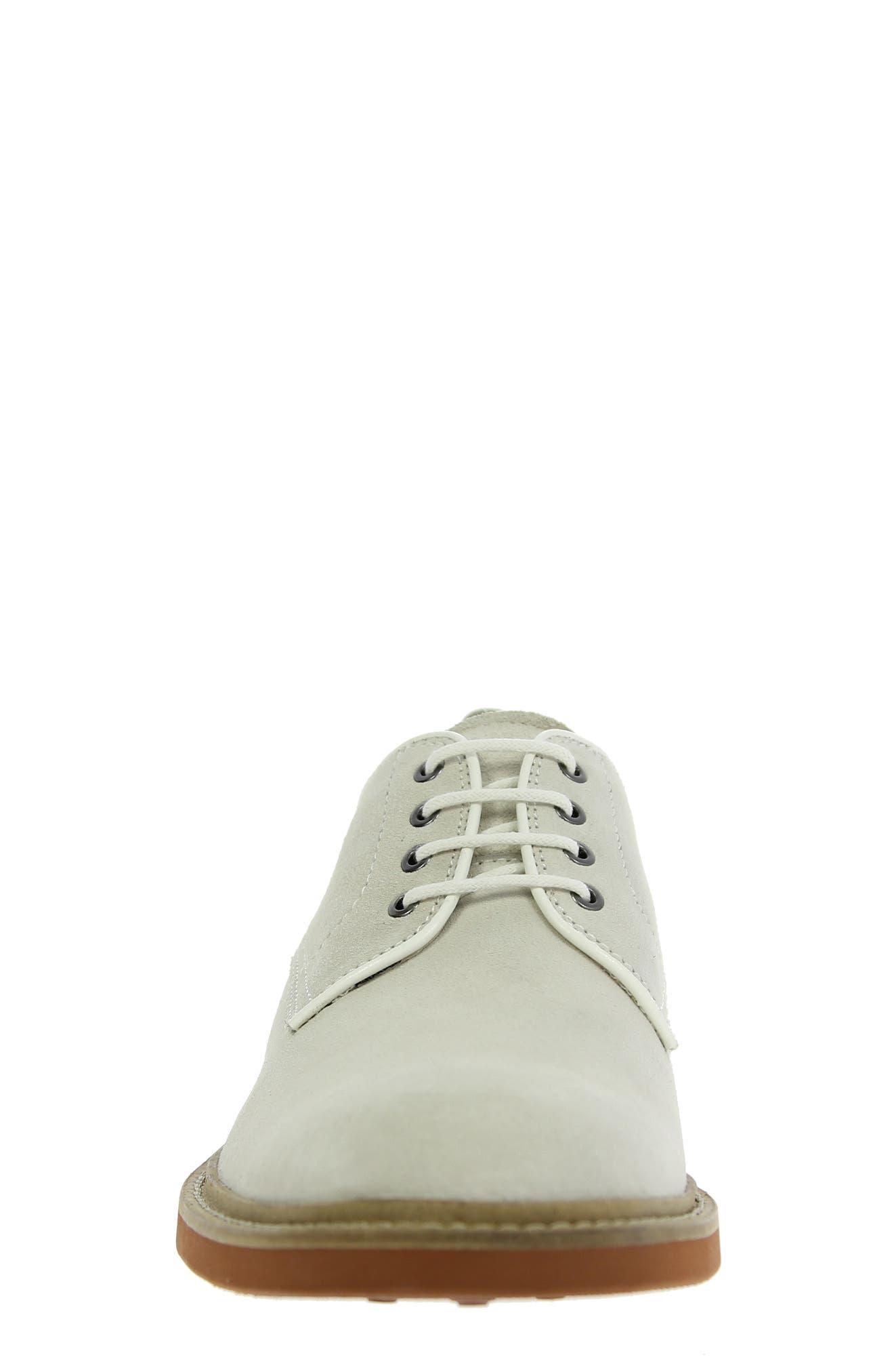 'Bucktown' Buck Shoe,                             Alternate thumbnail 4, color,                             WHITE SUEDE