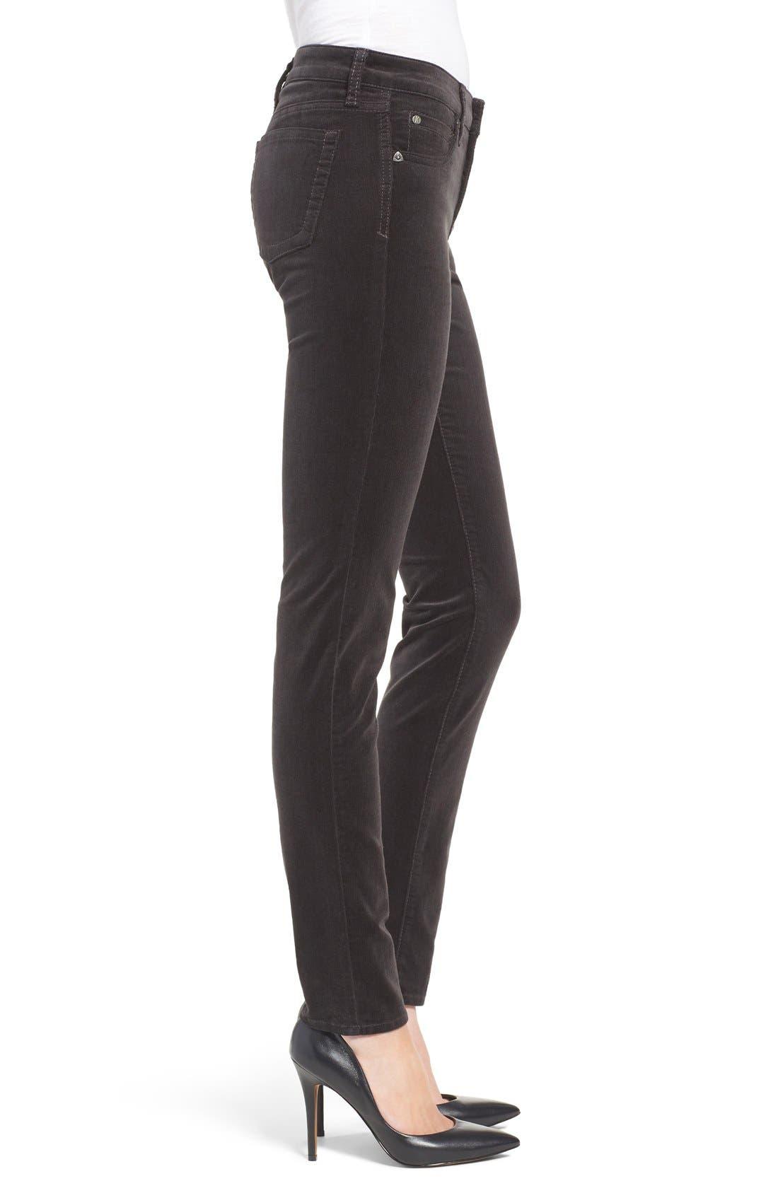 'Diana' Stretch Corduroy Skinny Pants,                             Alternate thumbnail 106, color,
