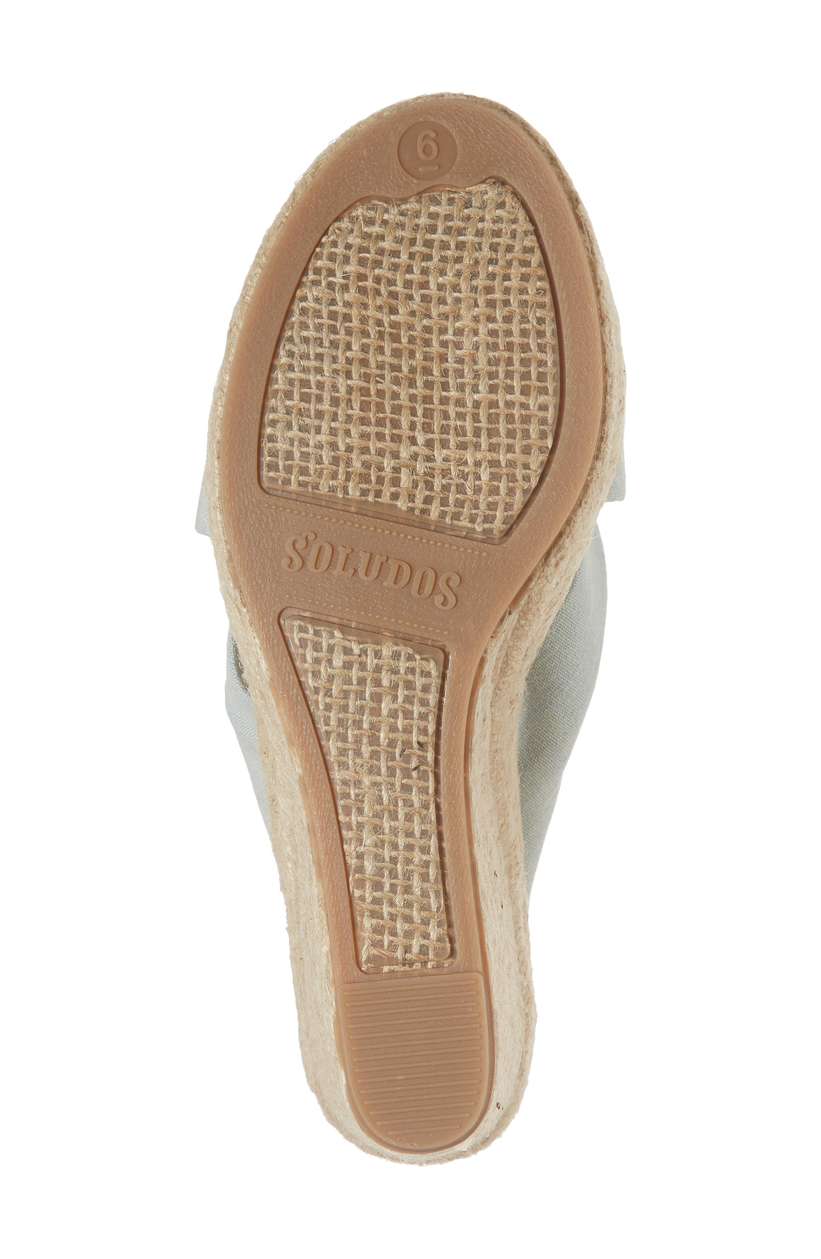 Knotted Espadrille Wedge Sandal,                             Alternate thumbnail 6, color,                             420