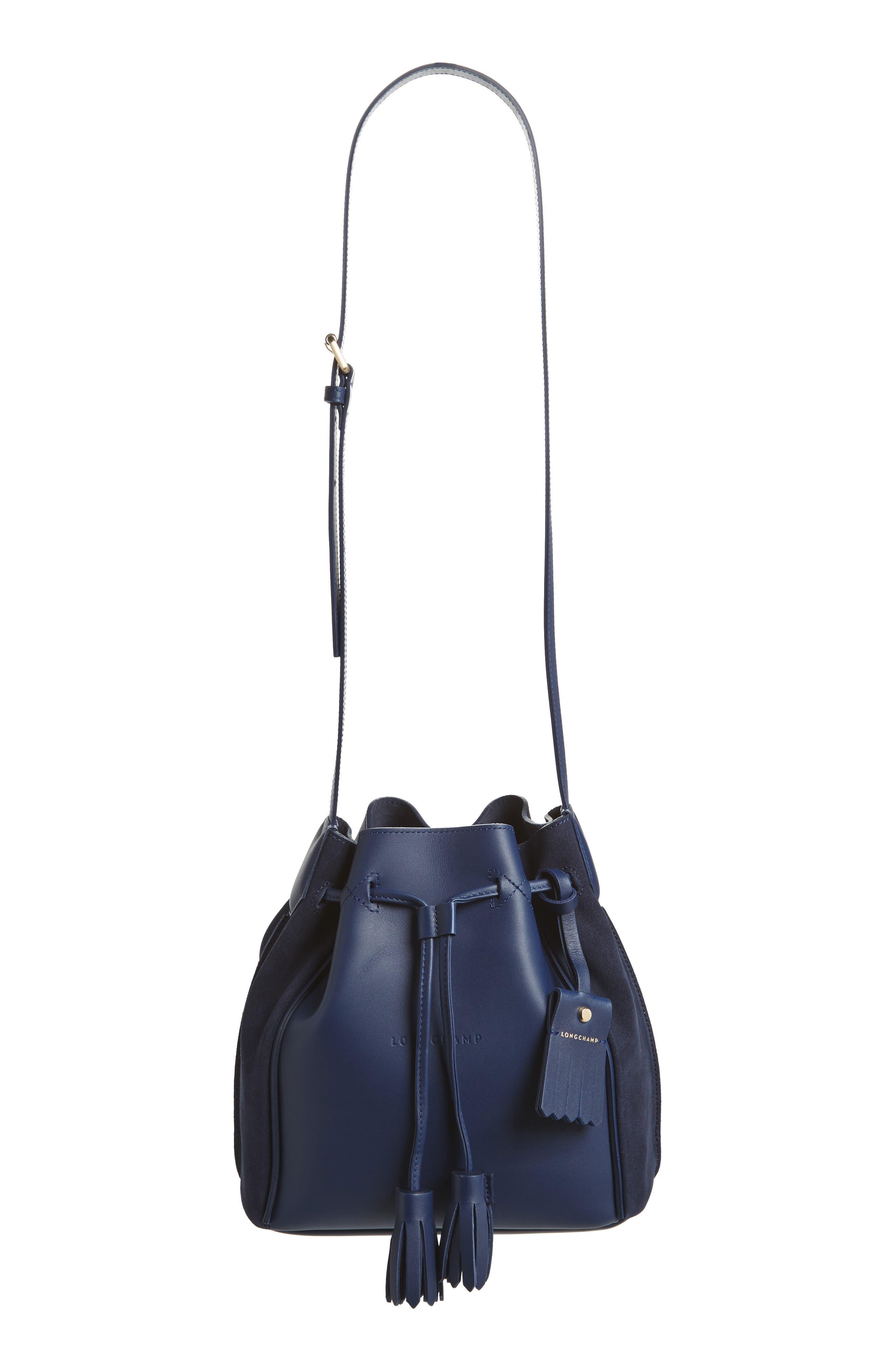 Penelope Fantasie Leather Bucket Bag,                             Main thumbnail 2, color,
