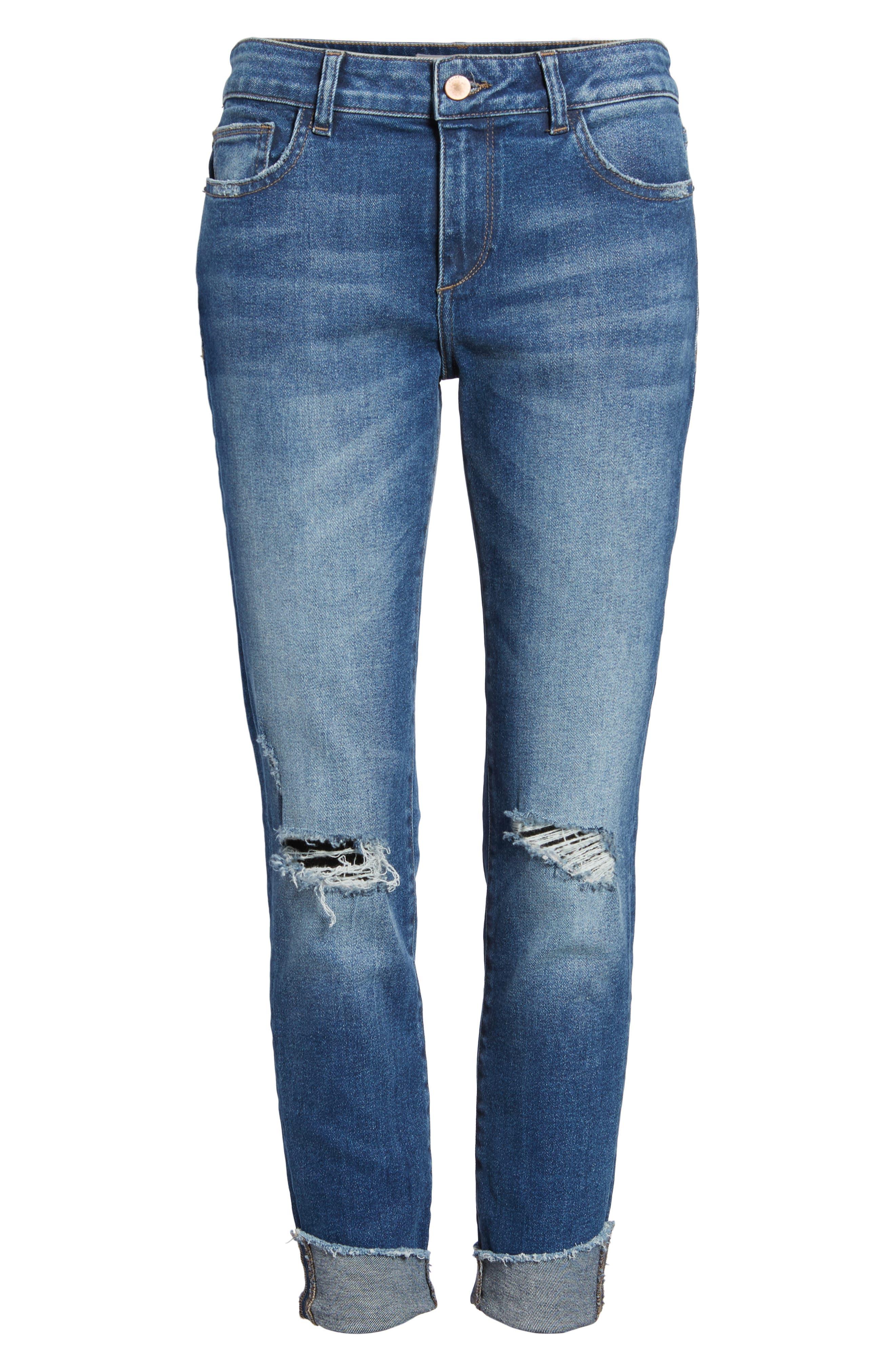 Florence Instasculpt Crop Skinny Jeans,                             Alternate thumbnail 6, color,                             400