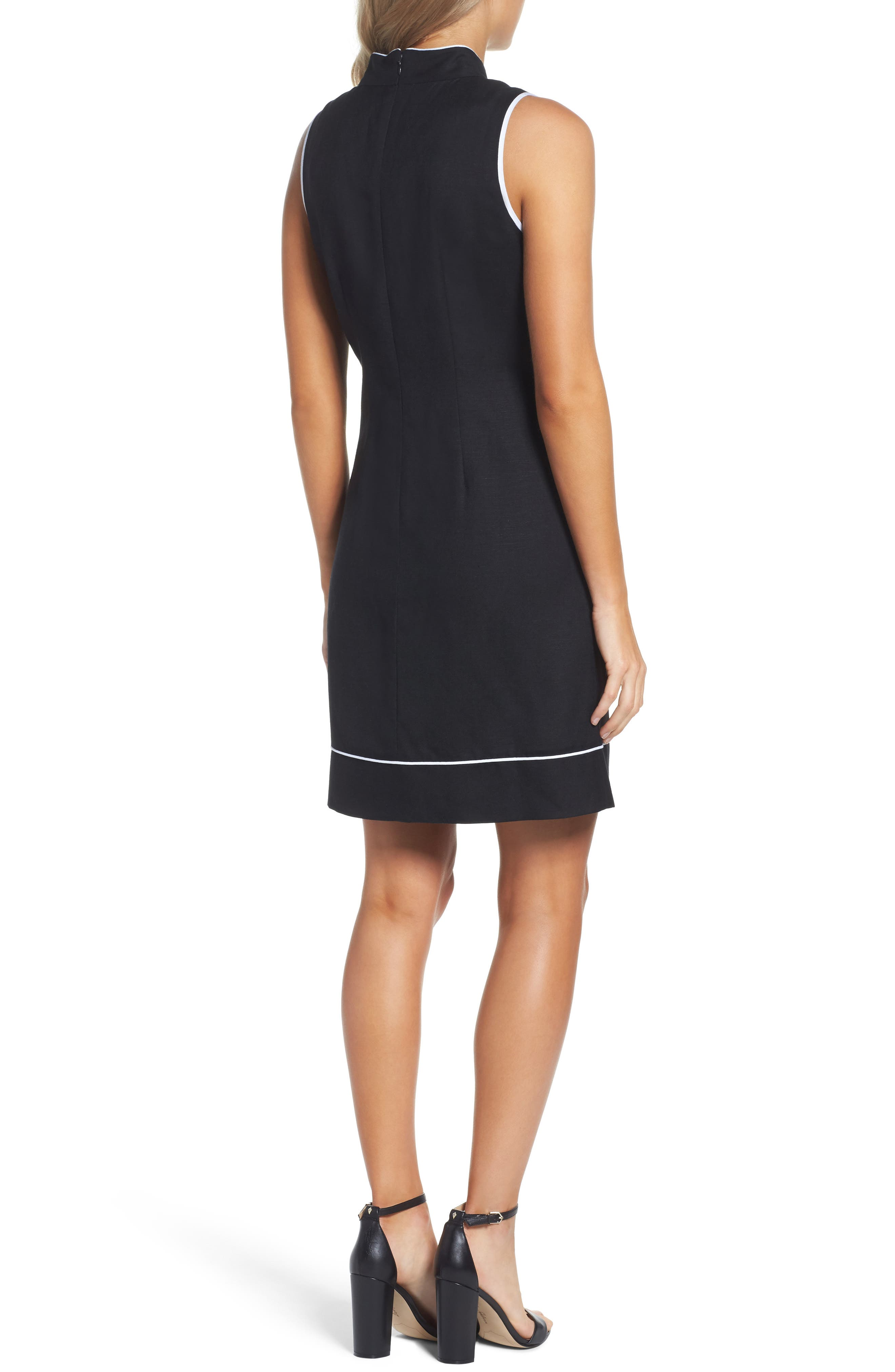Piped Sheath Dress,                             Alternate thumbnail 2, color,                             012