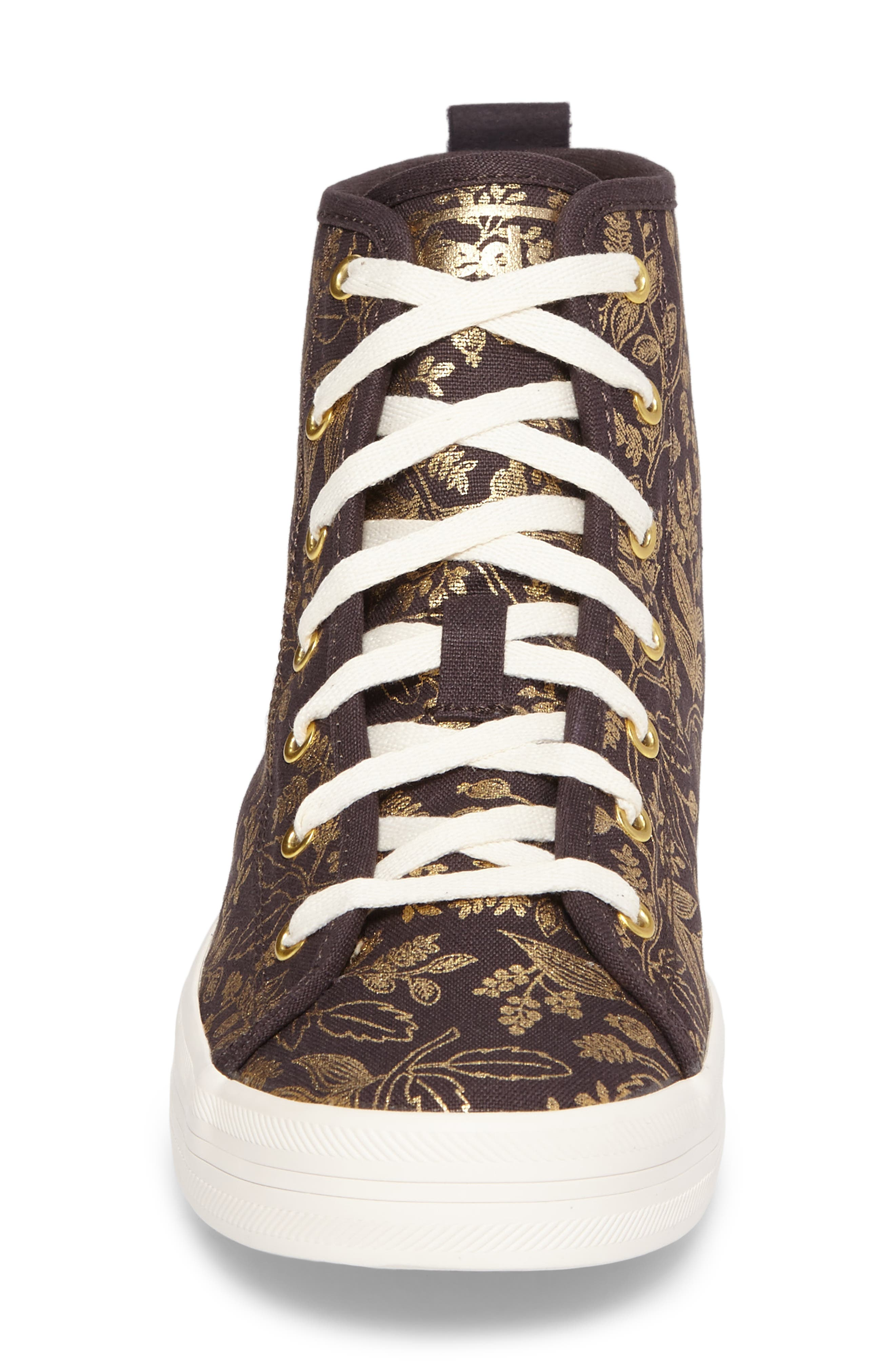 x Rifle Paper Co. Queen Anne High Top Sneaker,                             Alternate thumbnail 4, color,                             710