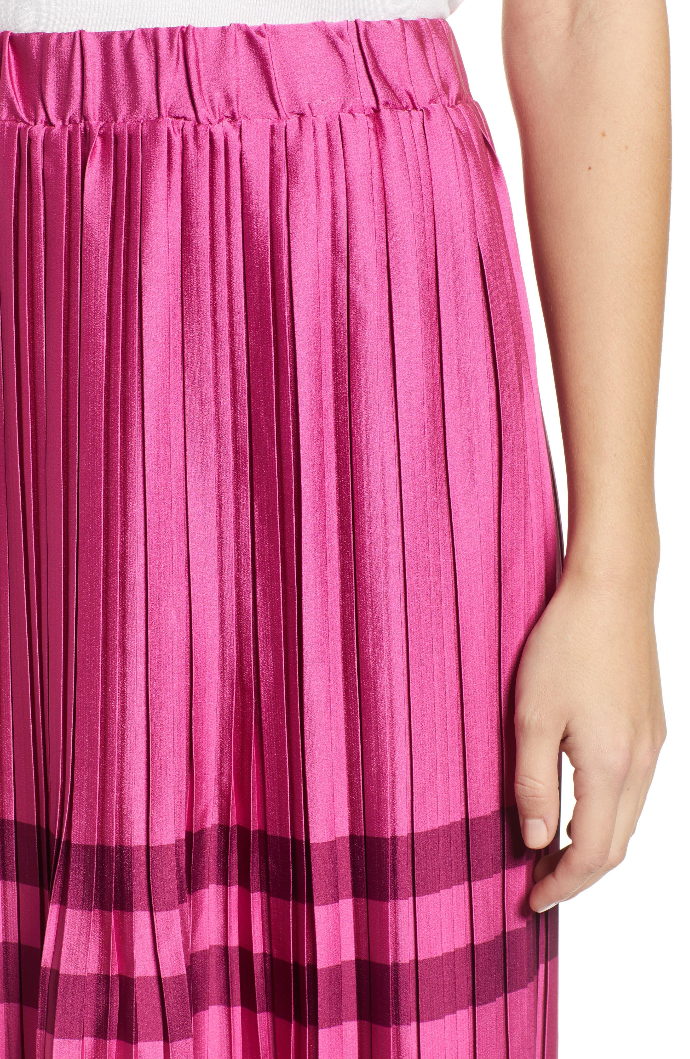 Niti Pleated Skirt,                             Alternate thumbnail 4, color,                             FESTIVAL FUCHSIA