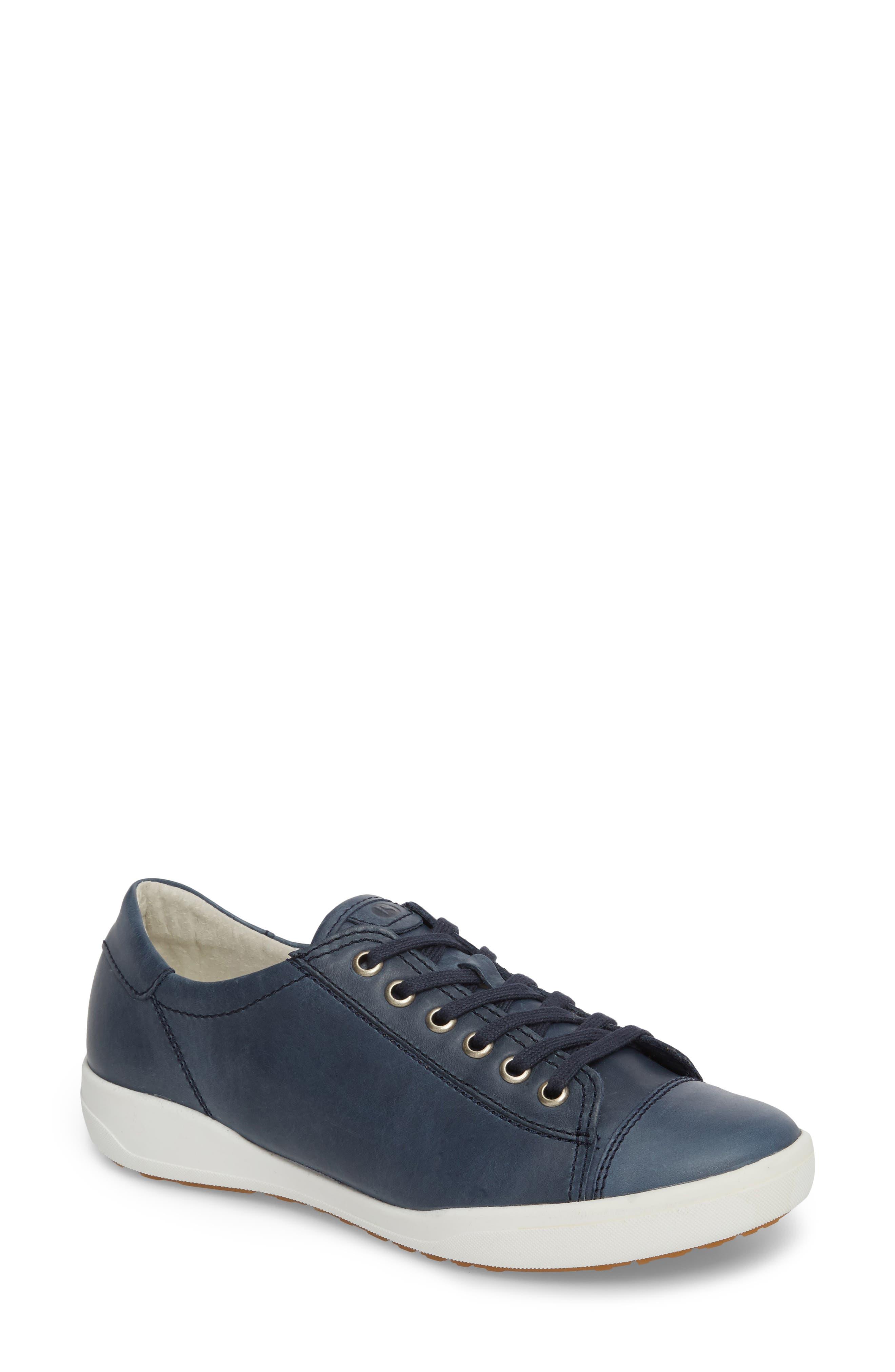 Sina 11 Sneaker,                             Main thumbnail 1, color,                             DENIM LEATHER
