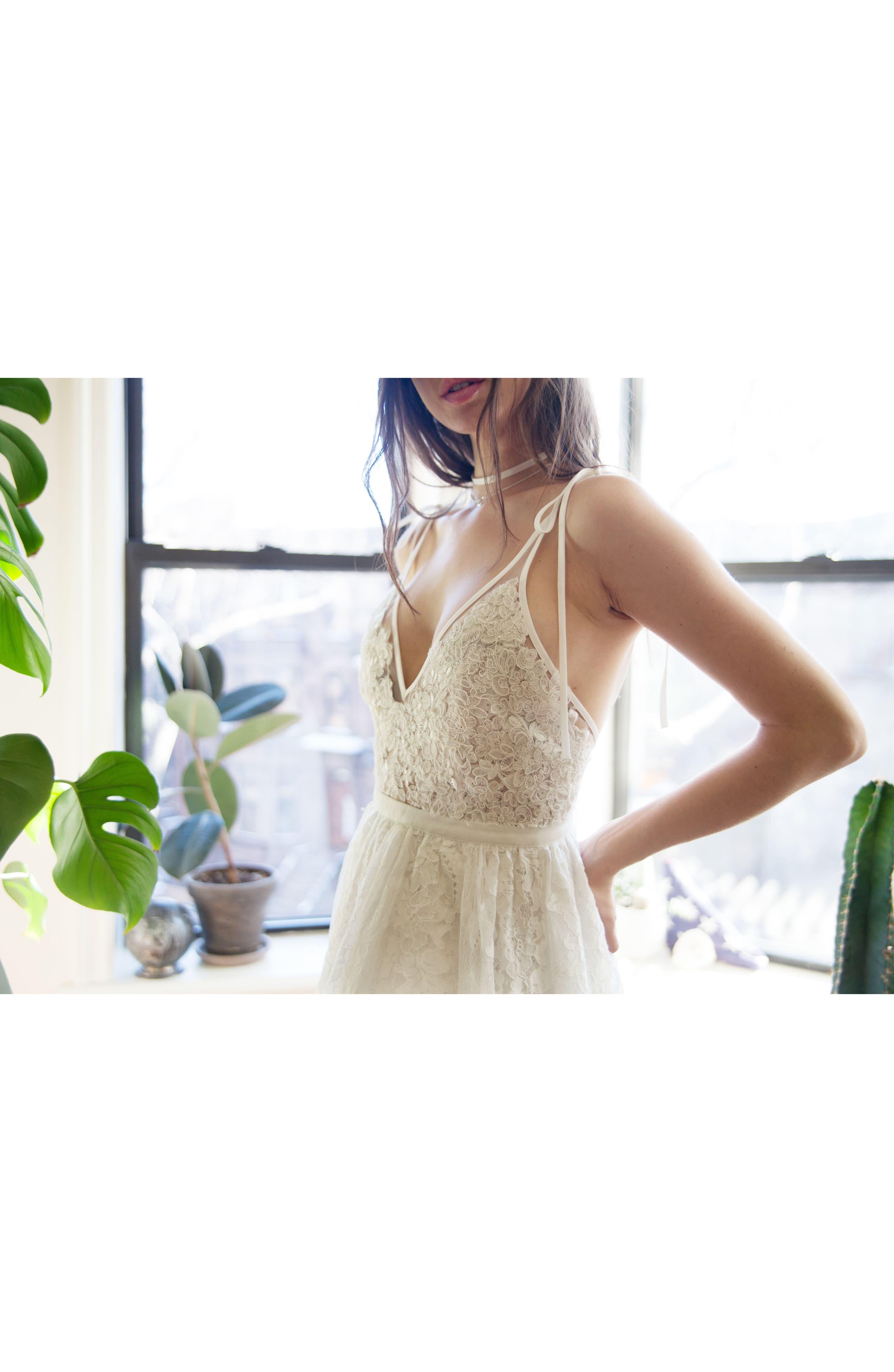 Charlie Tie Shoulder Lace Gown,                             Alternate thumbnail 11, color,