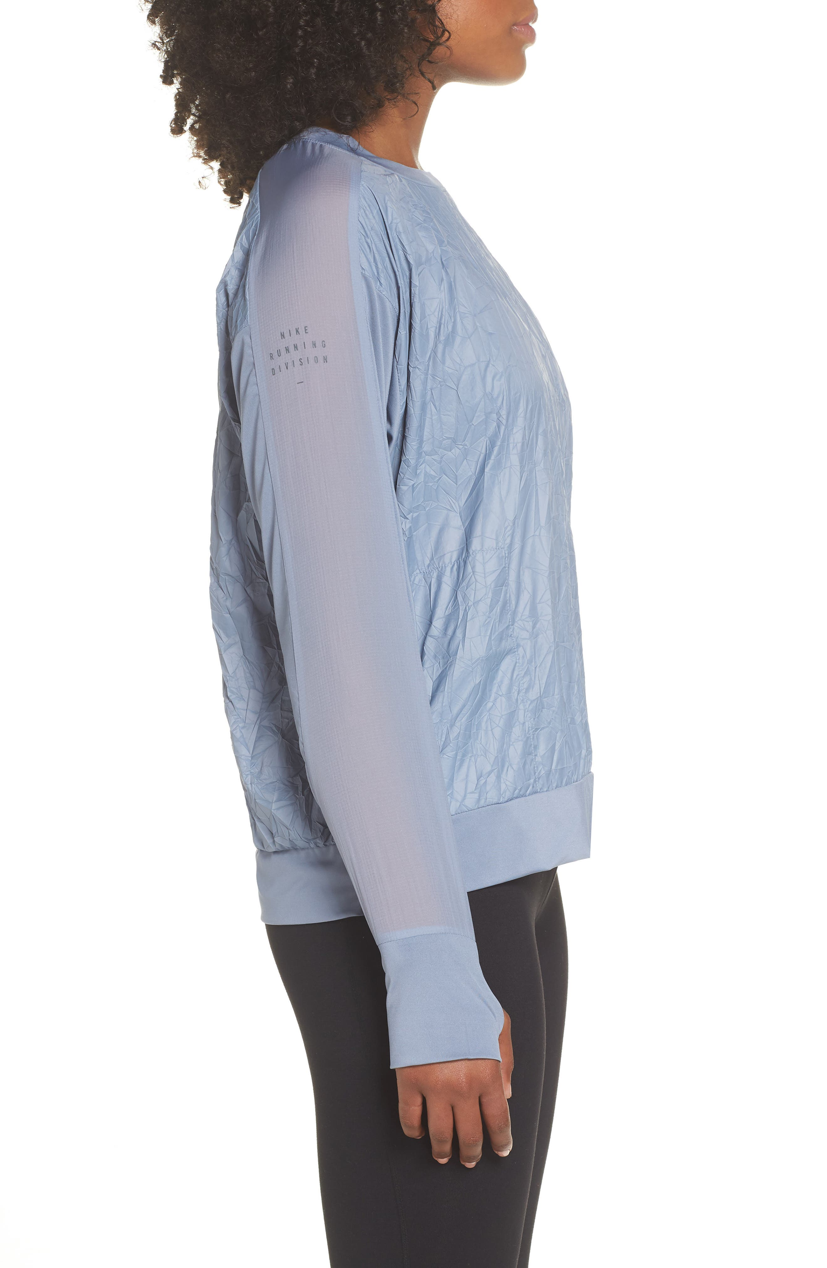 Water Repellent Pullover Running Jacket,                             Alternate thumbnail 3, color,                             020