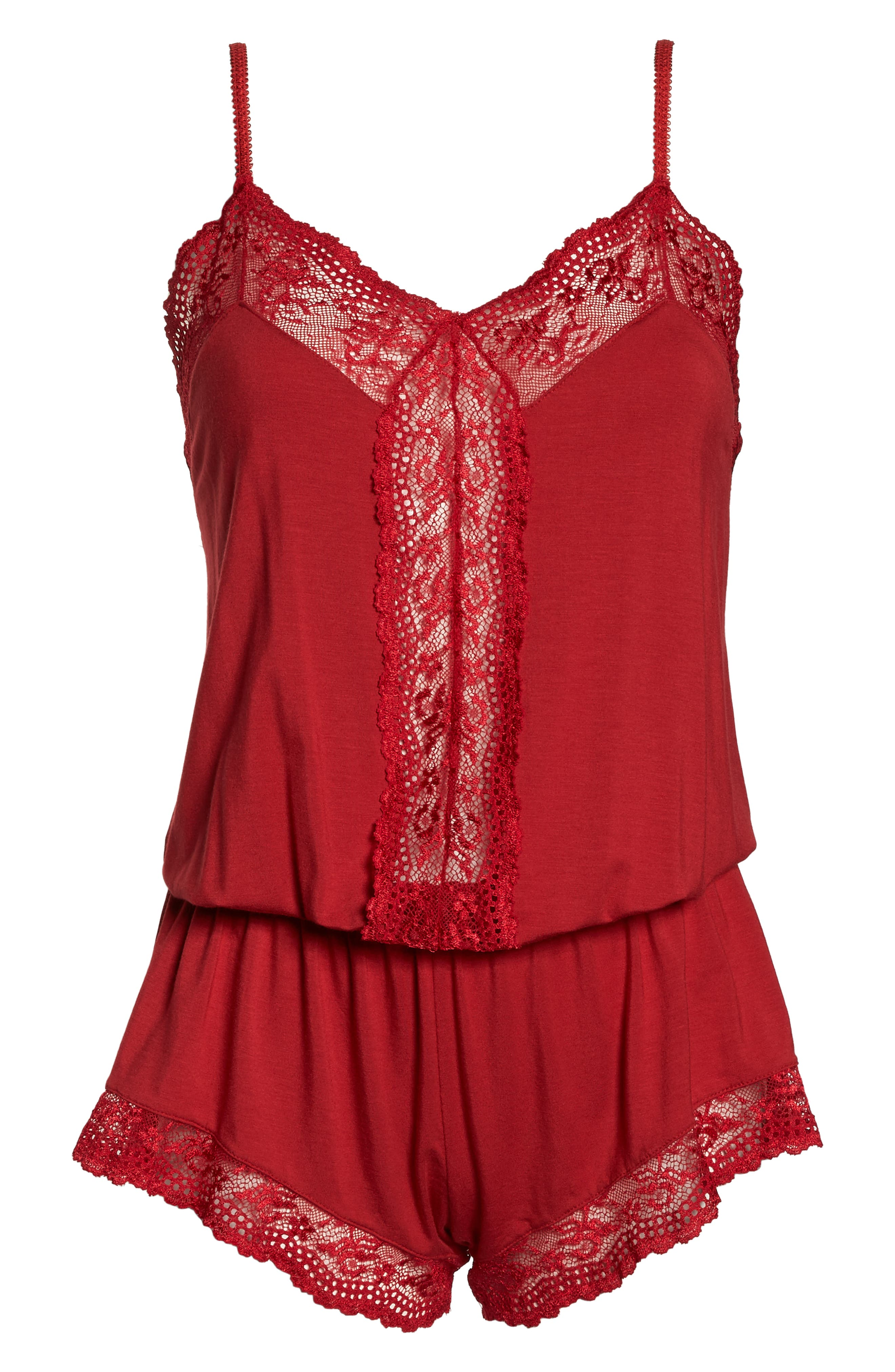 Colette the Dreamer Romper,                             Alternate thumbnail 6, color,                             SCARLET