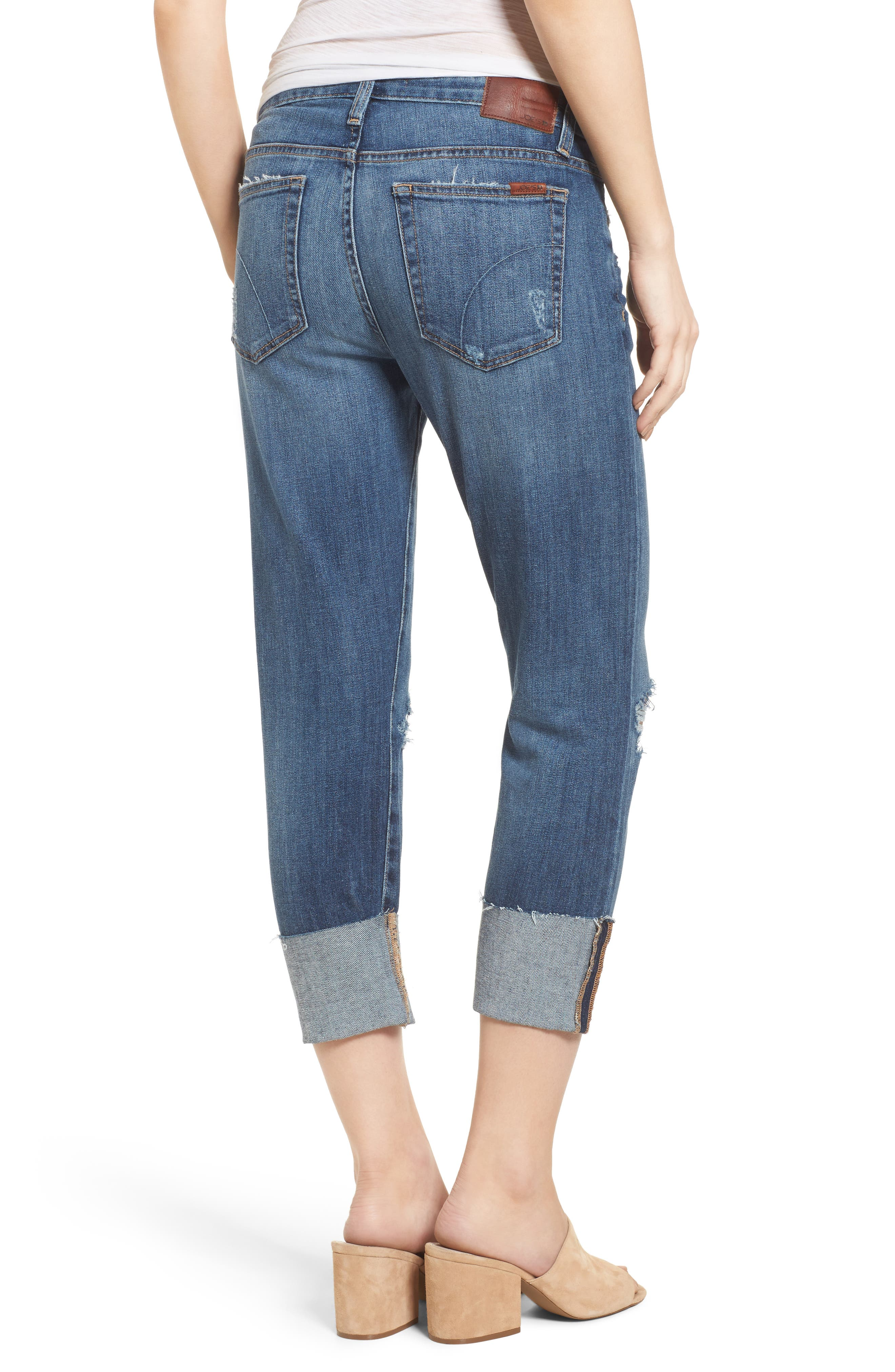 Smith Crop Boyfriend Jeans,                             Alternate thumbnail 2, color,                             400