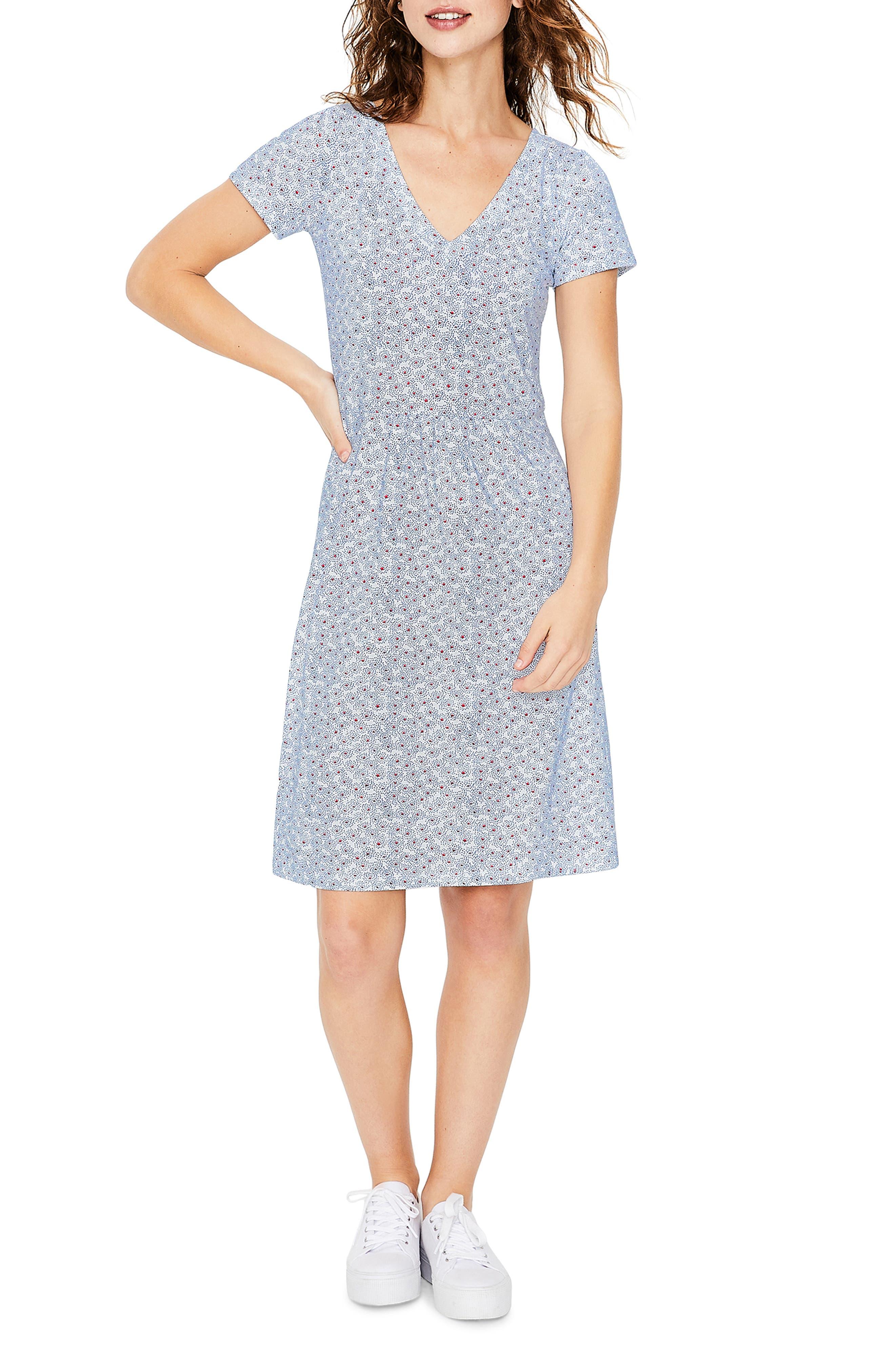 Petite Boden Penelope Jersey Dress, Ivory