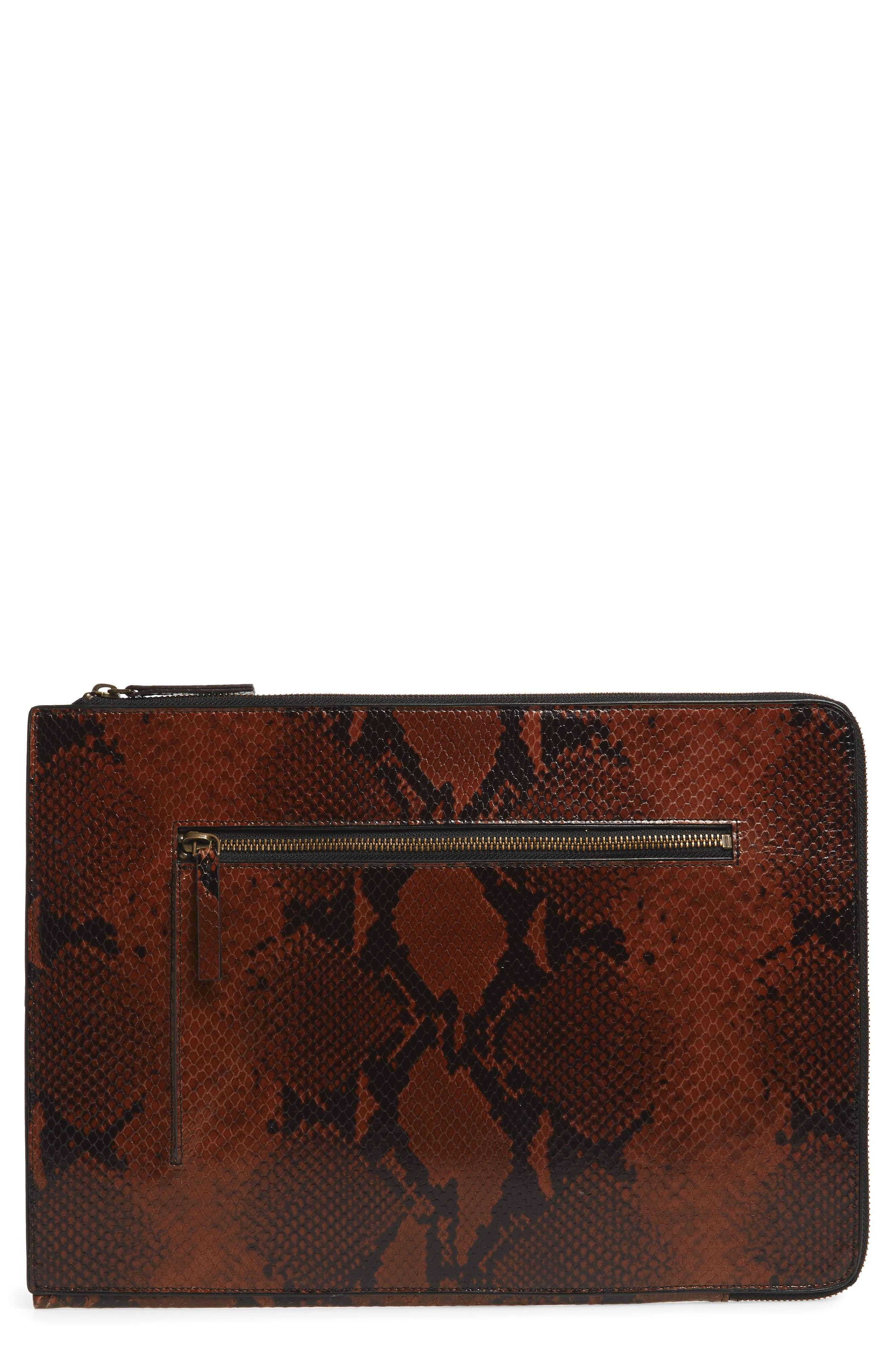Leather Laptop Sleeve,                             Main thumbnail 1, color,                             200