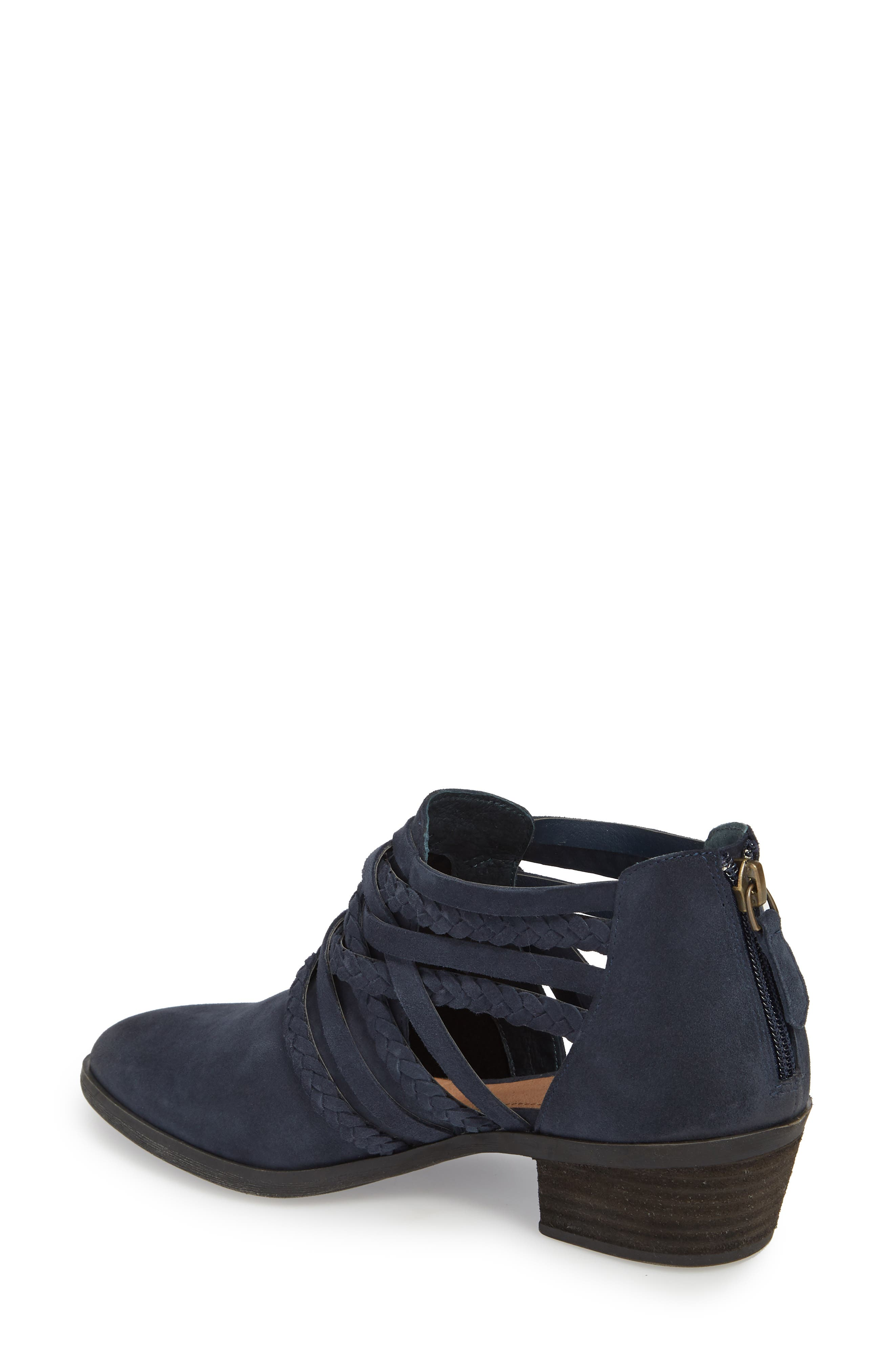 Liam Braided Bootie,                             Alternate thumbnail 2, color,                             NAVY SUEDE