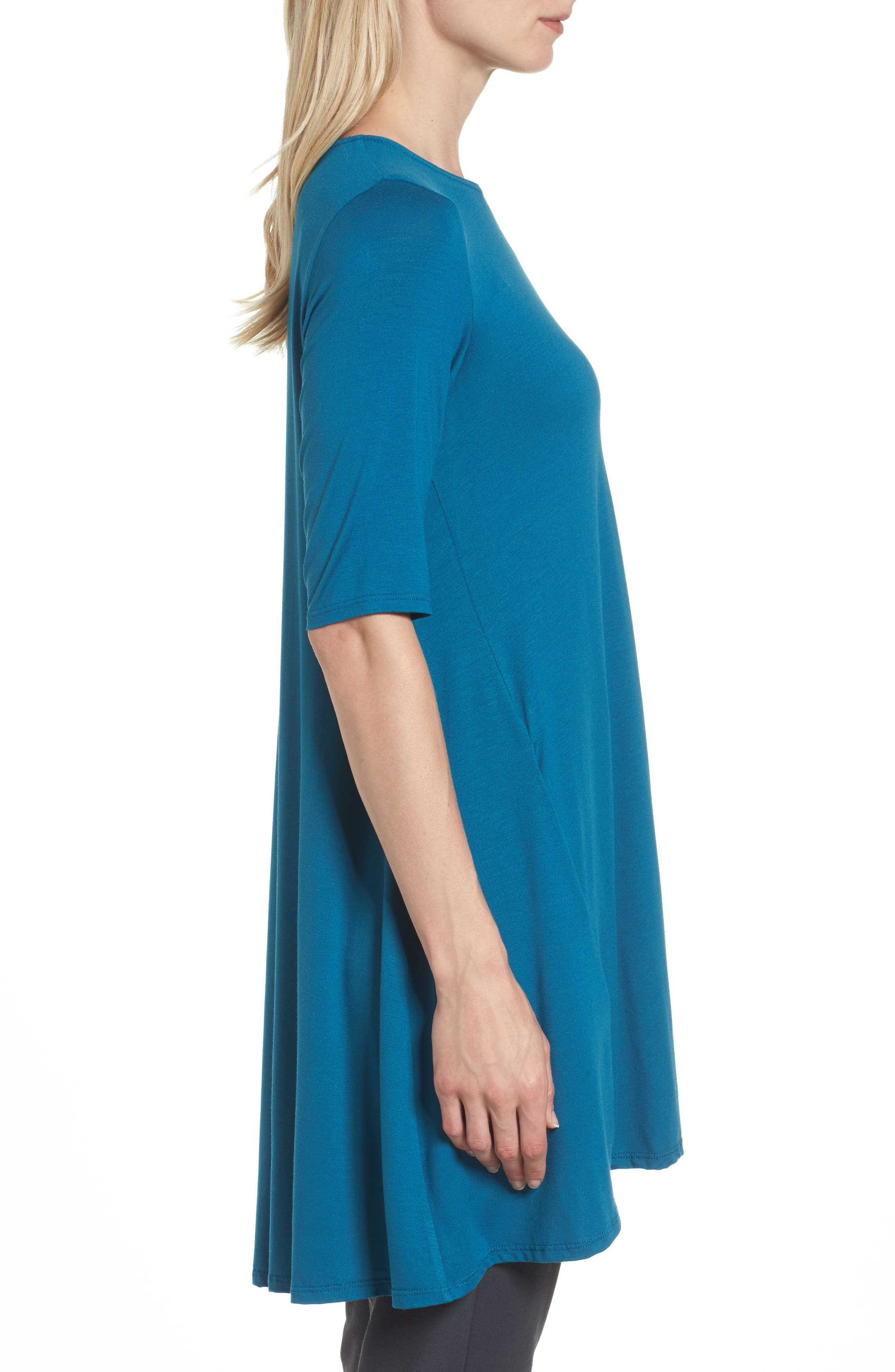 Lightweight Jersey Round Neck Tunic,                             Alternate thumbnail 16, color,