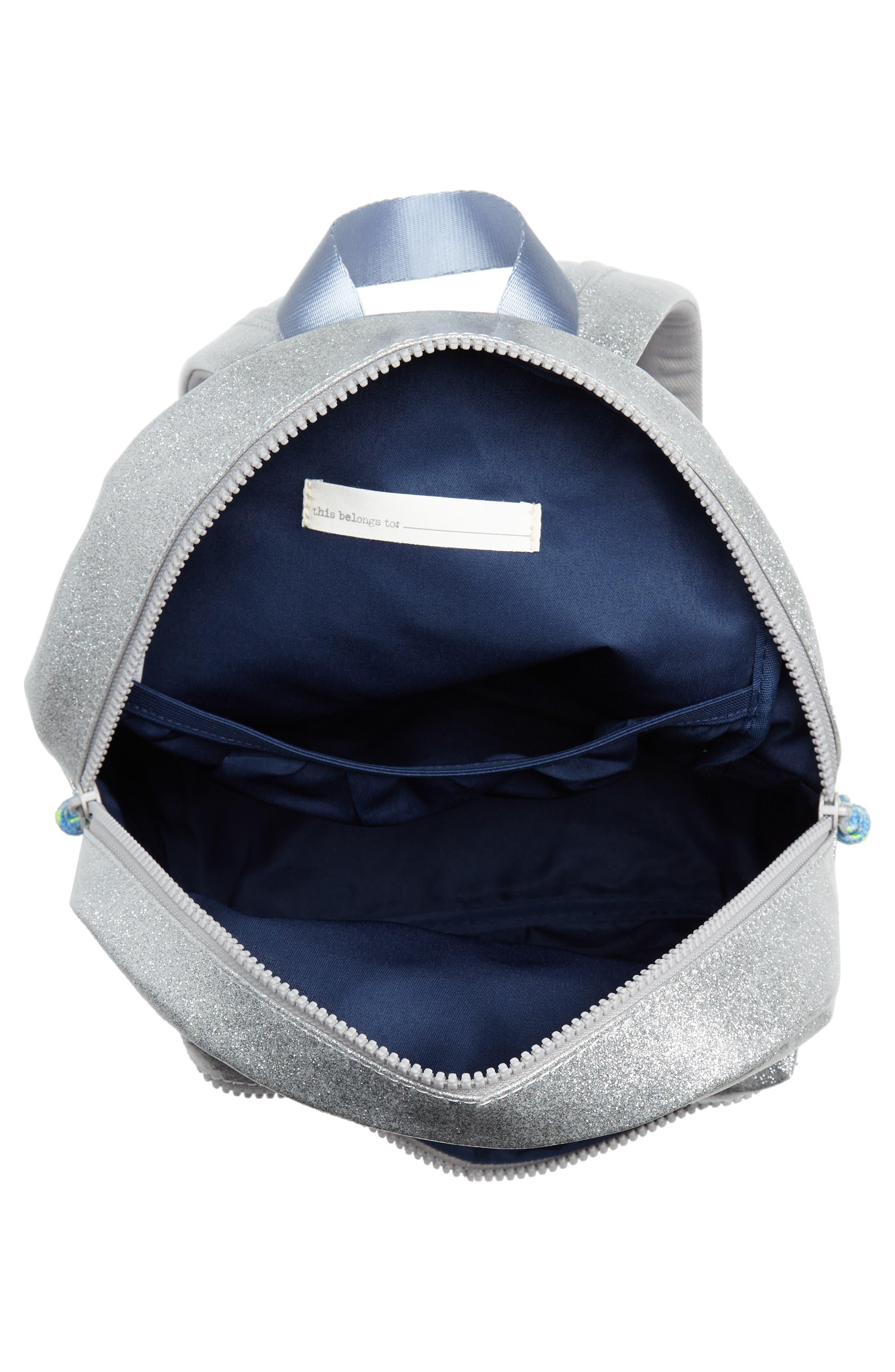 Glitter Mini Backpack,                             Alternate thumbnail 3, color,                             MORNING FOG