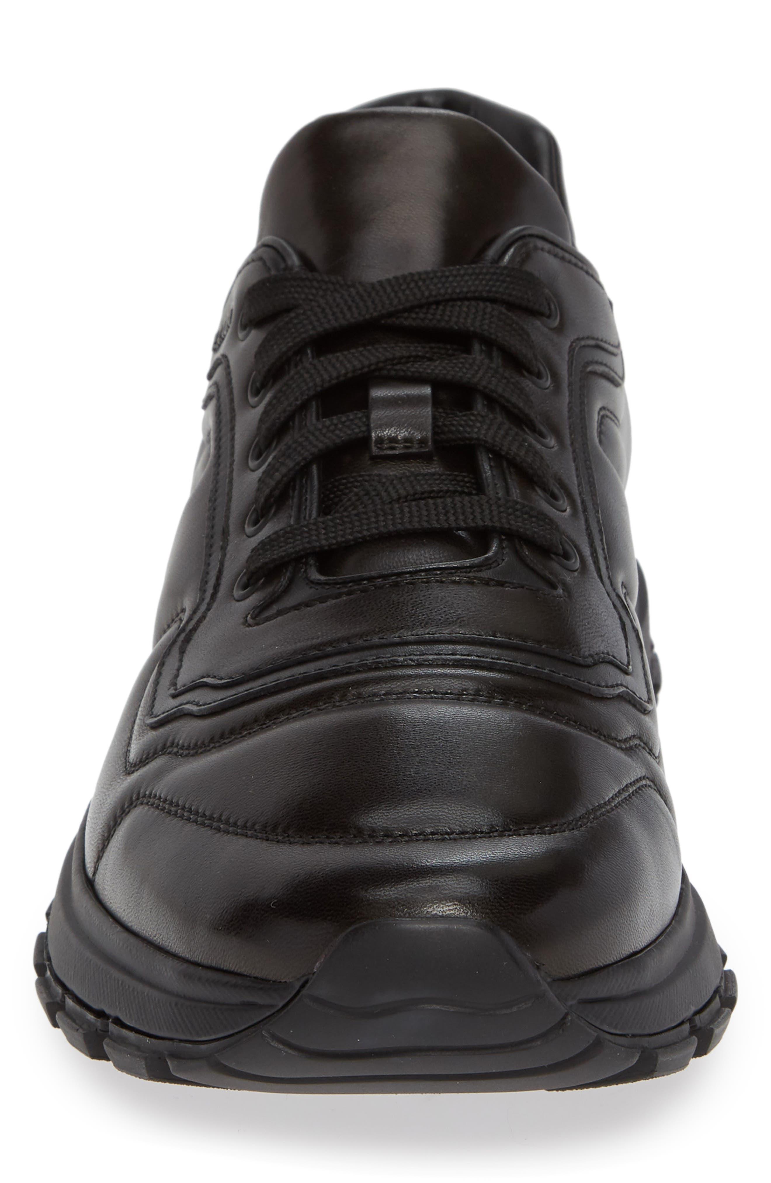 PRADA,                             Trainer Sneaker,                             Alternate thumbnail 4, color,                             NERO