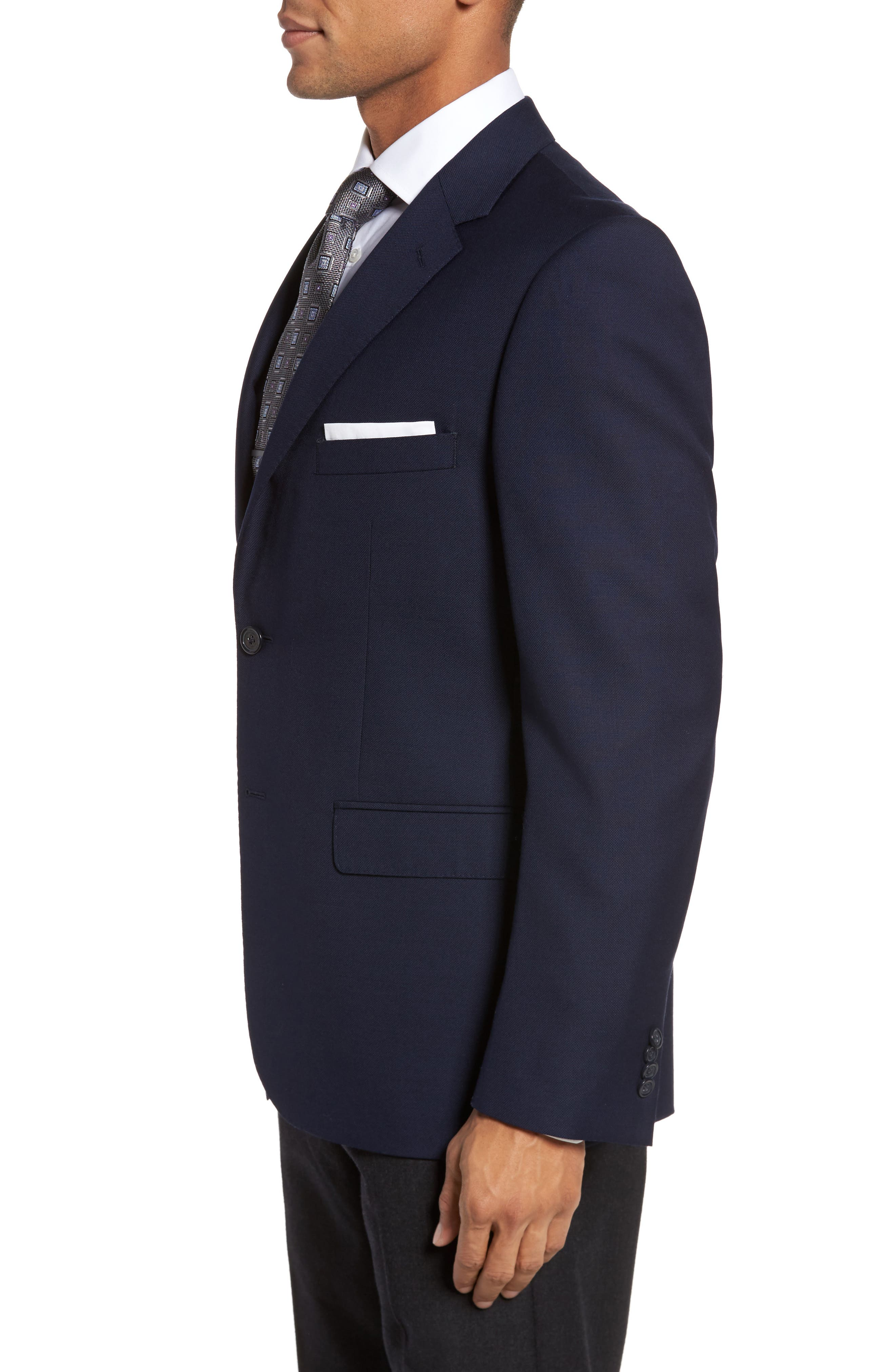 Classic Fit Solid Wool Sport Coat,                             Alternate thumbnail 3, color,                             410