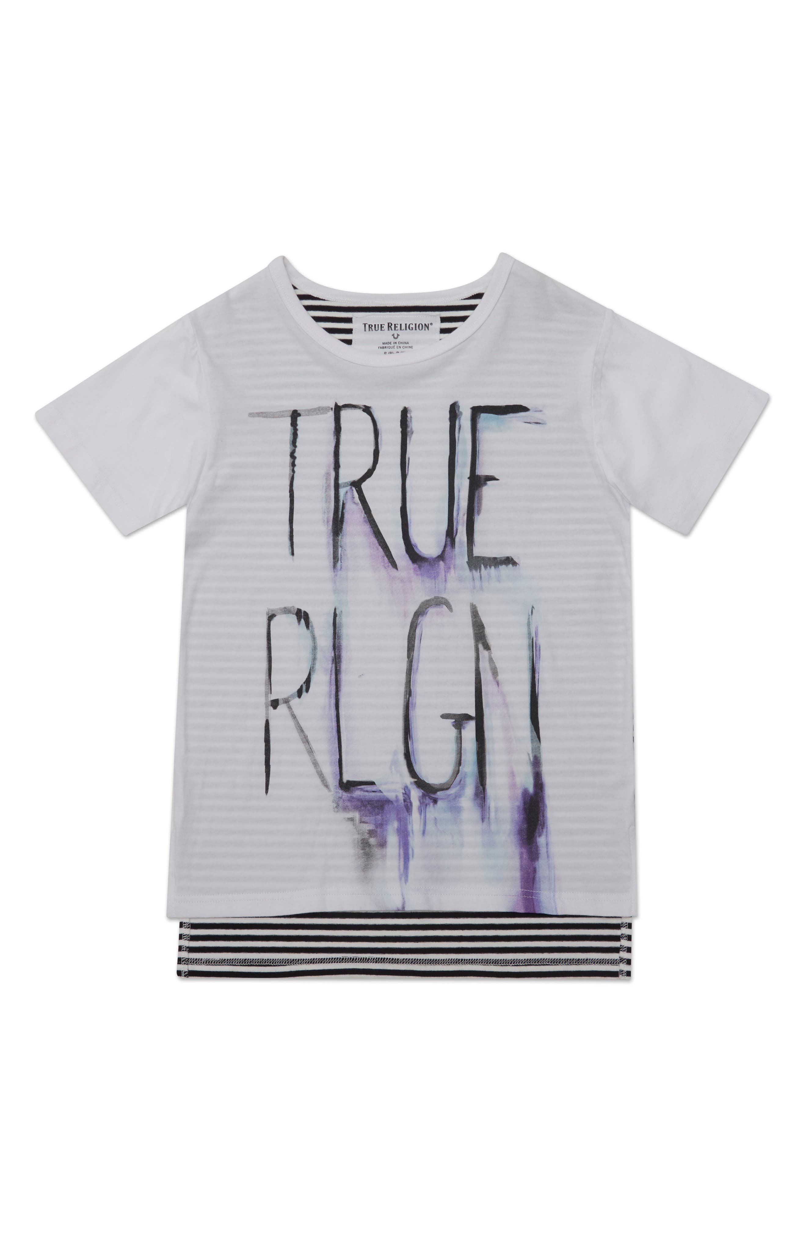 TRUE RELIGION BRAND JEANS,                             Sketch Graphic T-Shirt,                             Main thumbnail 1, color,                             100