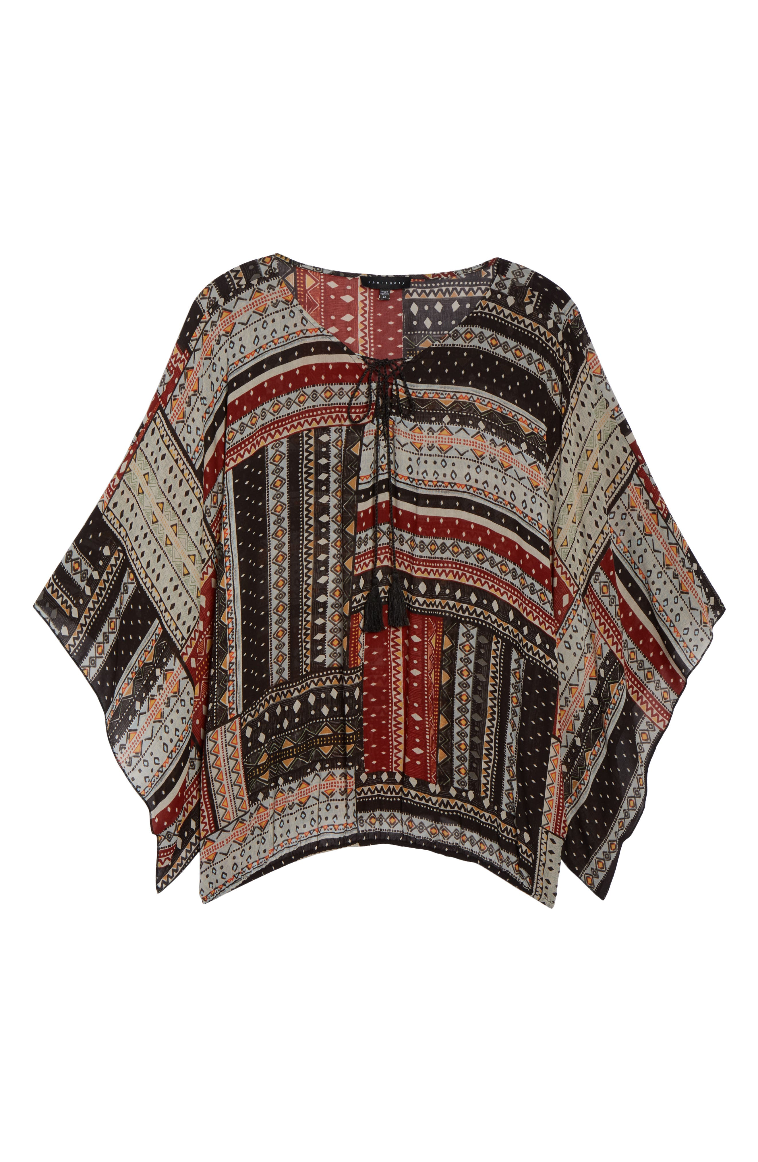 Poncho Top,                             Alternate thumbnail 7, color,                             209