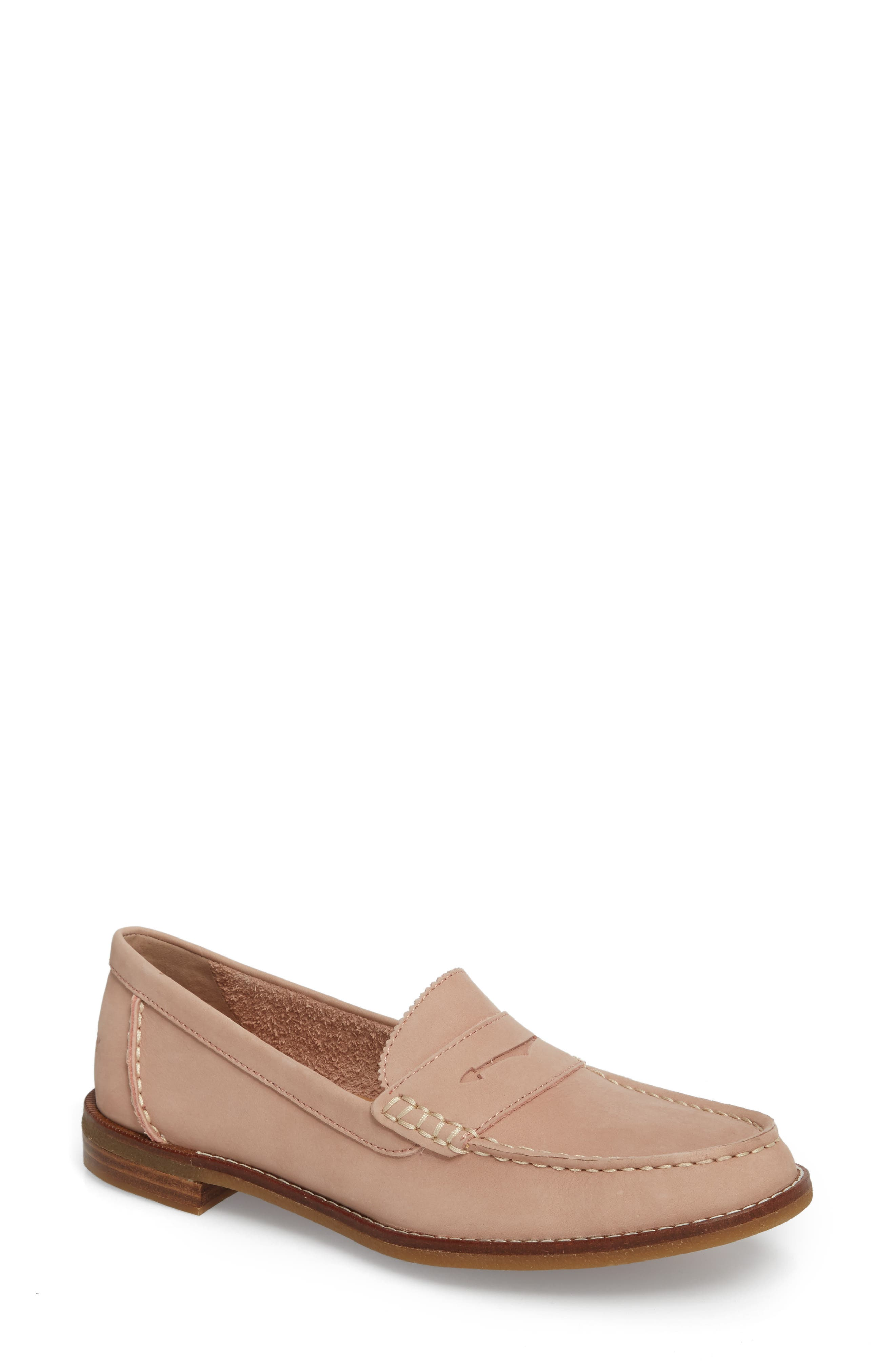 Seaport Penny Loafer,                             Main thumbnail 1, color,                             ROSE DUST LEATHER