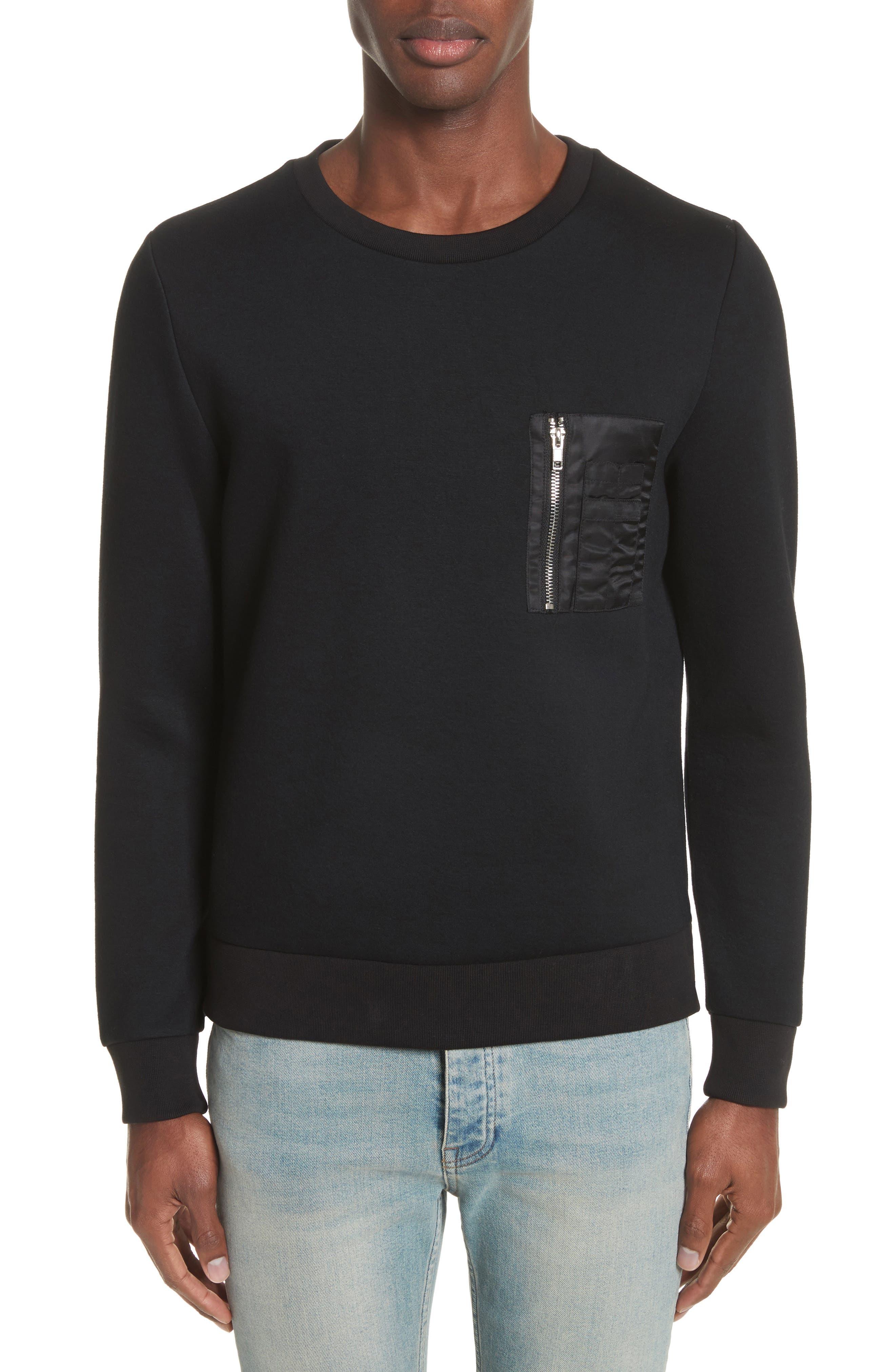 Fleece Sweatshirt,                         Main,                         color, 001