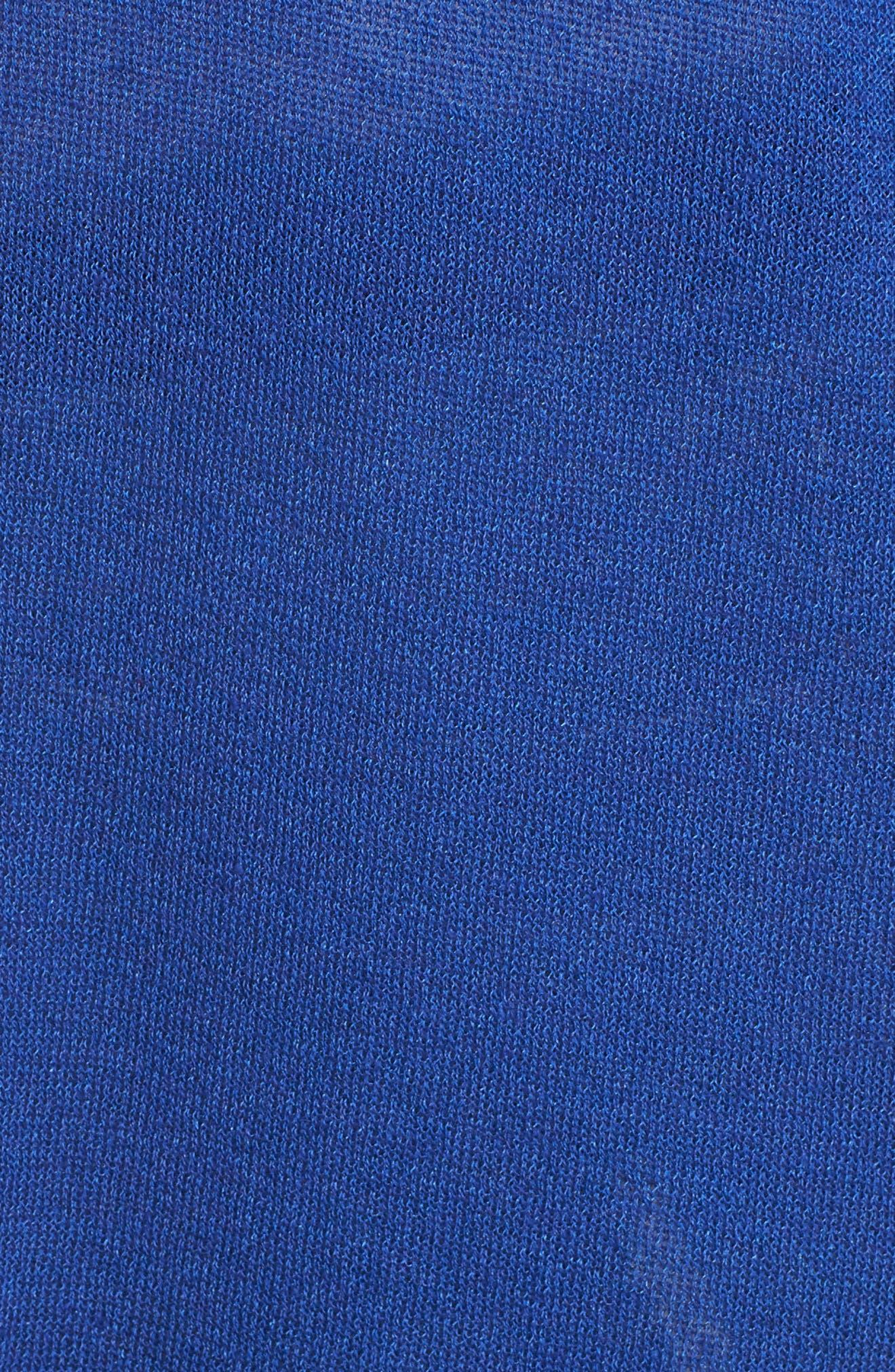 Long Cardigan,                             Alternate thumbnail 5, color,                             BLUE MAZARINE