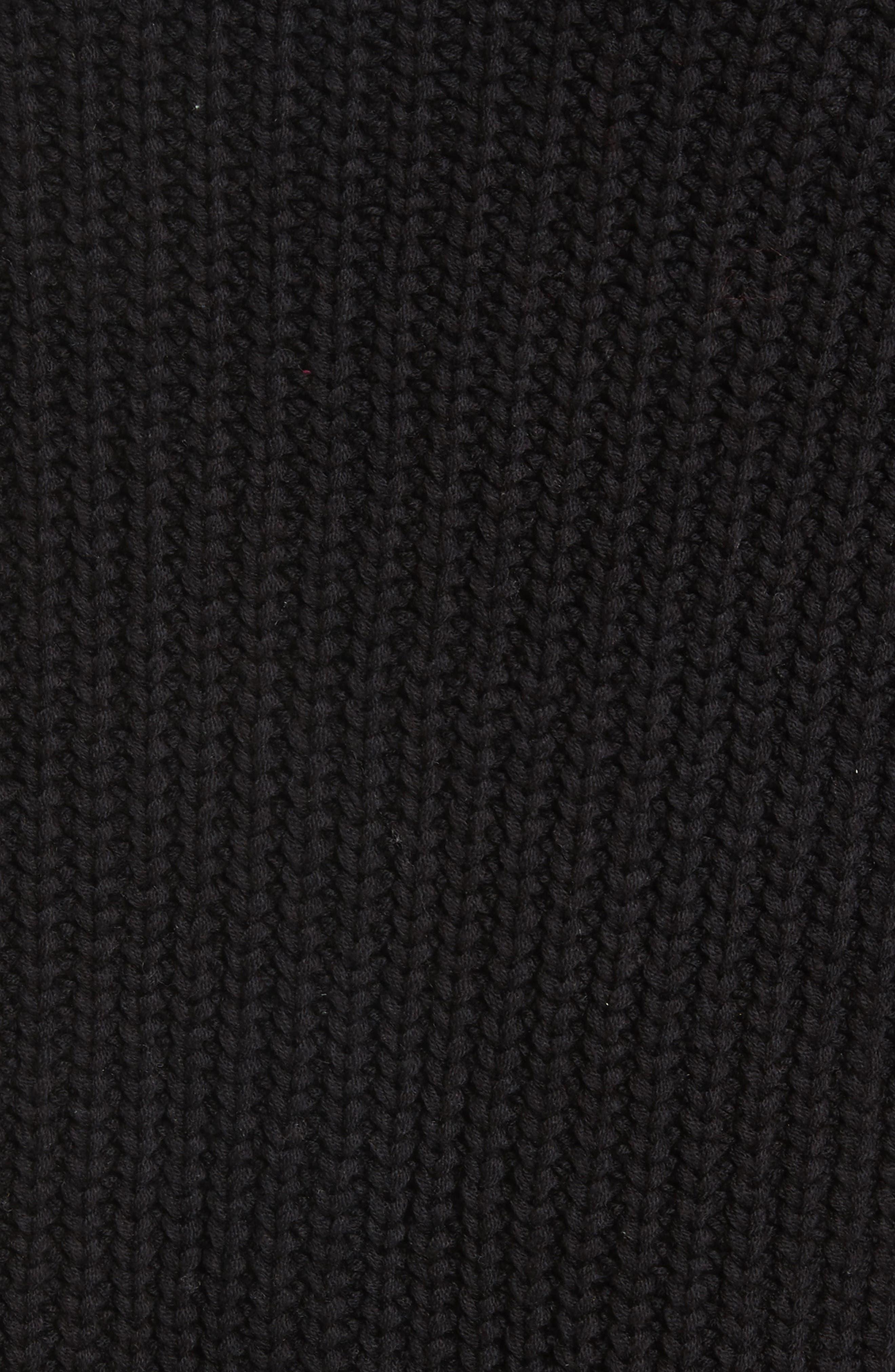 Swim Too Deep Turtleneck Sweater,                             Alternate thumbnail 5, color,                             001