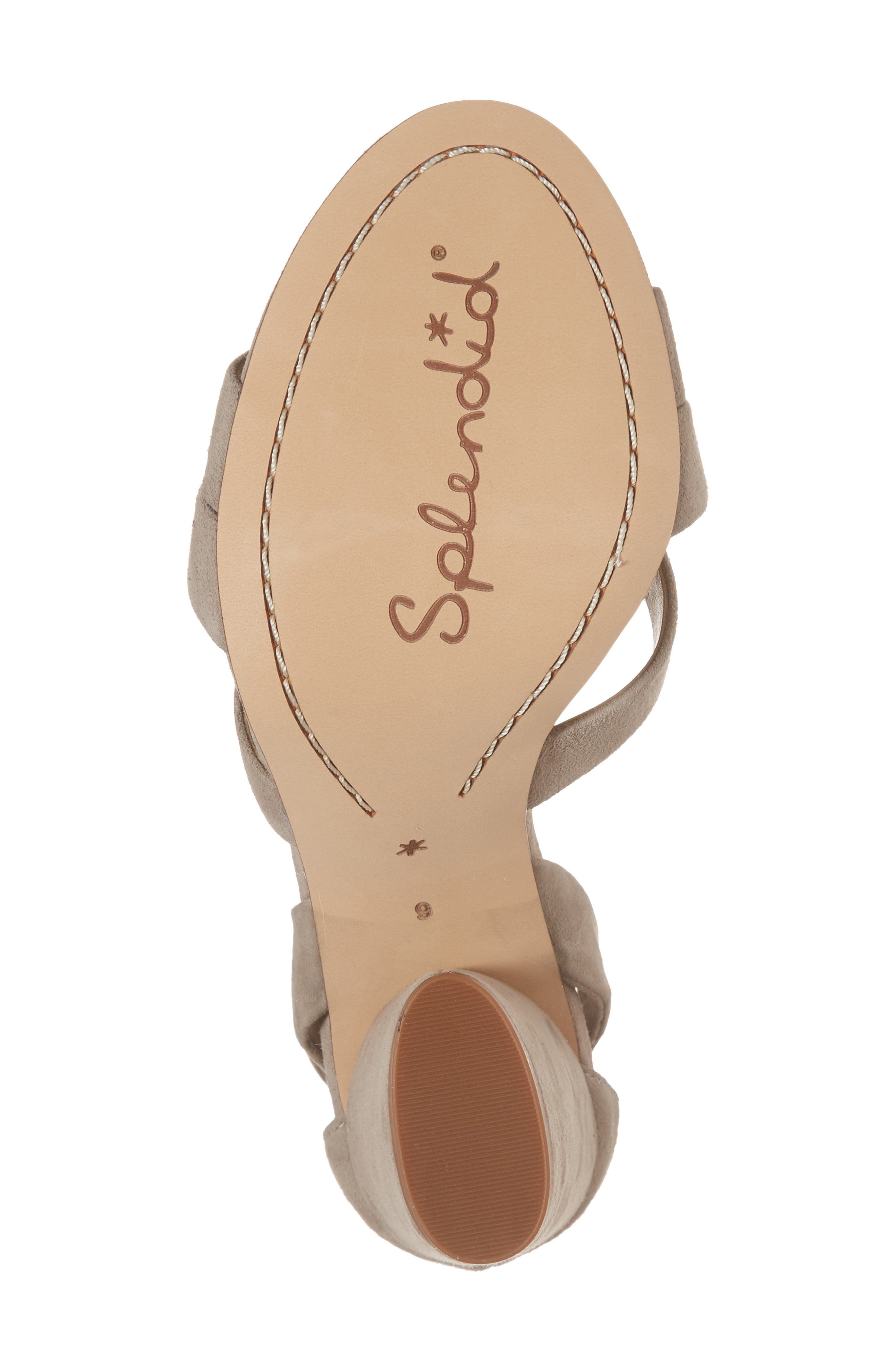 Fergie Lace-Up Sandal,                             Alternate thumbnail 6, color,                             TAUPE SUEDE