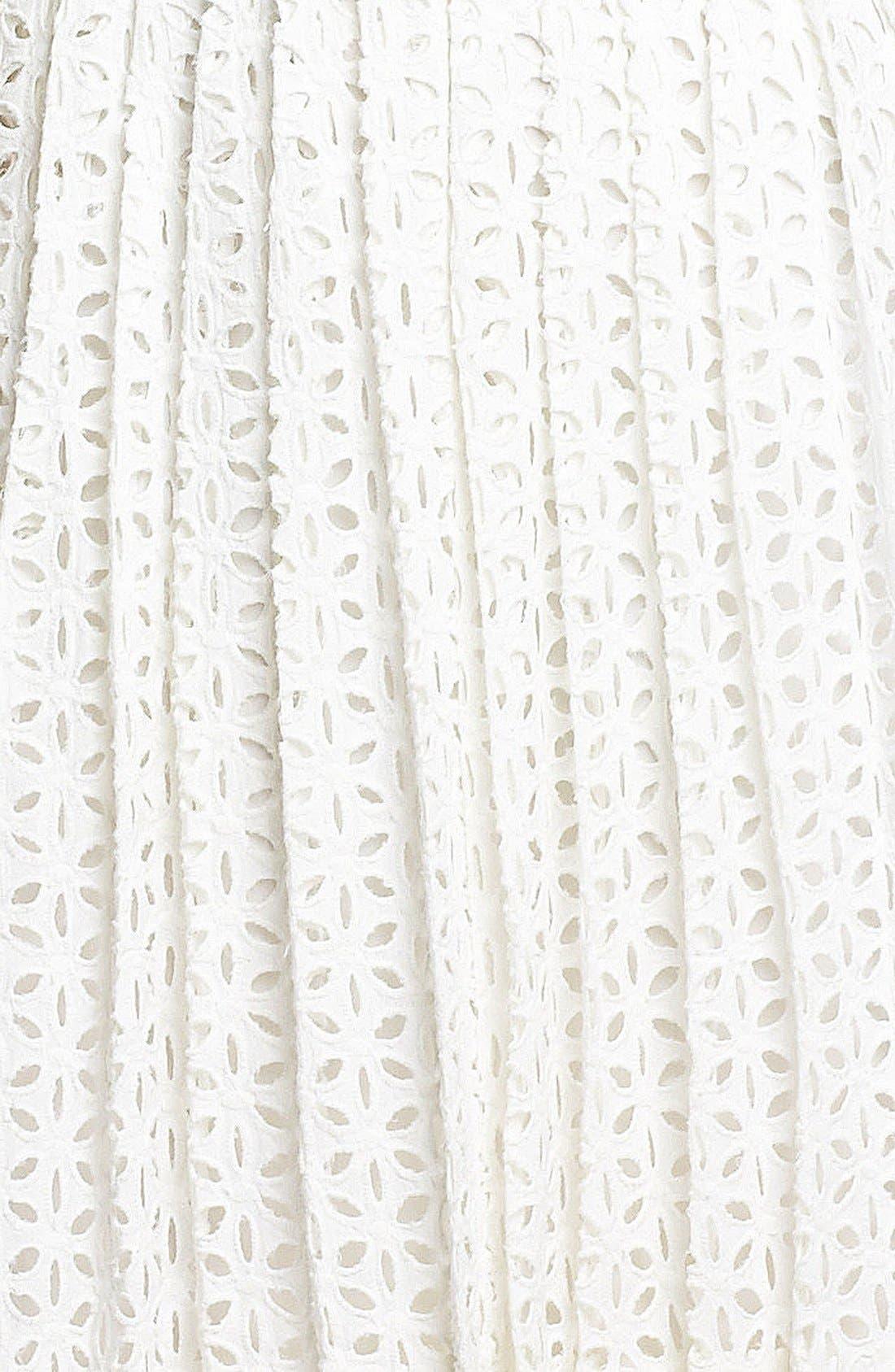 Sleeveless Cotton Fit & Flare Dress,                             Alternate thumbnail 2, color,