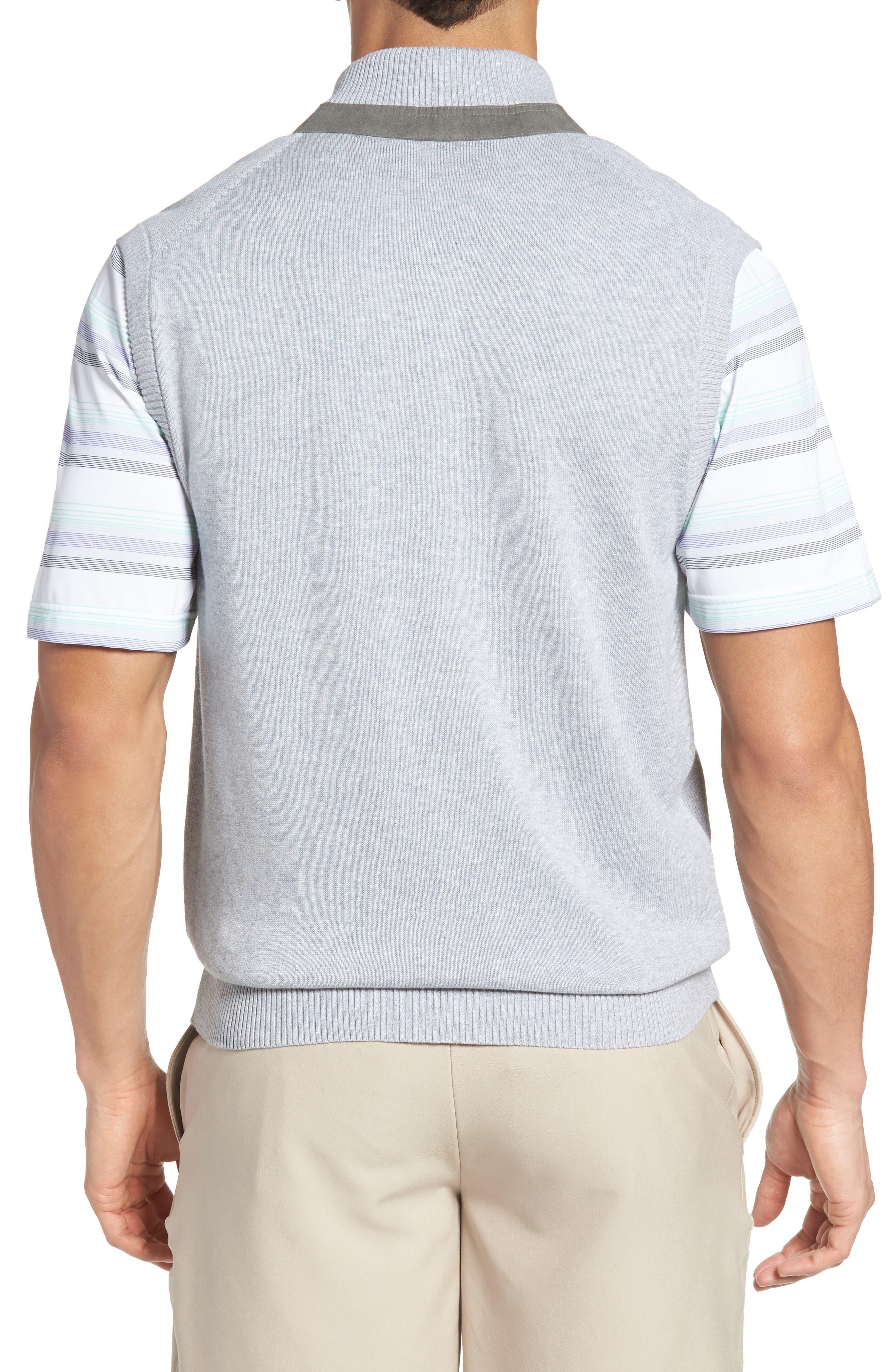 Piqué Jersey Quarter Zip Golf Vest,                             Alternate thumbnail 2, color,                             078