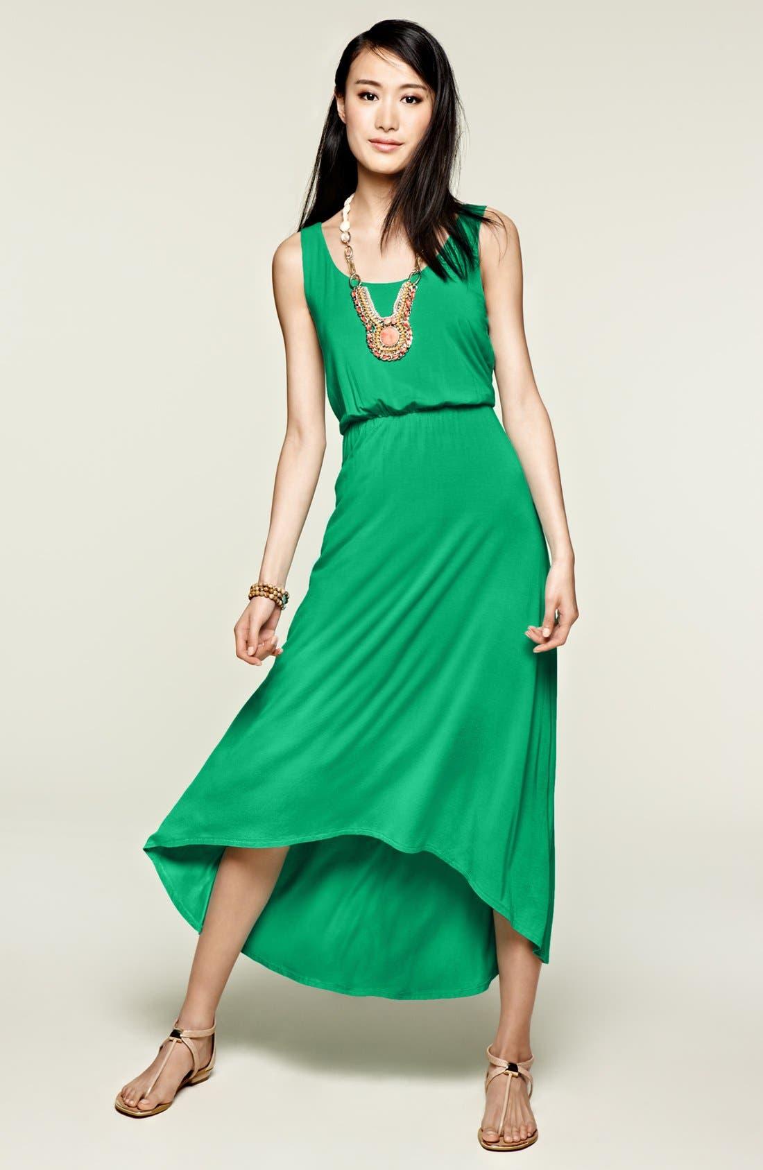 High/Low Hem Jersey Tank Dress,                             Main thumbnail 1, color,                             669