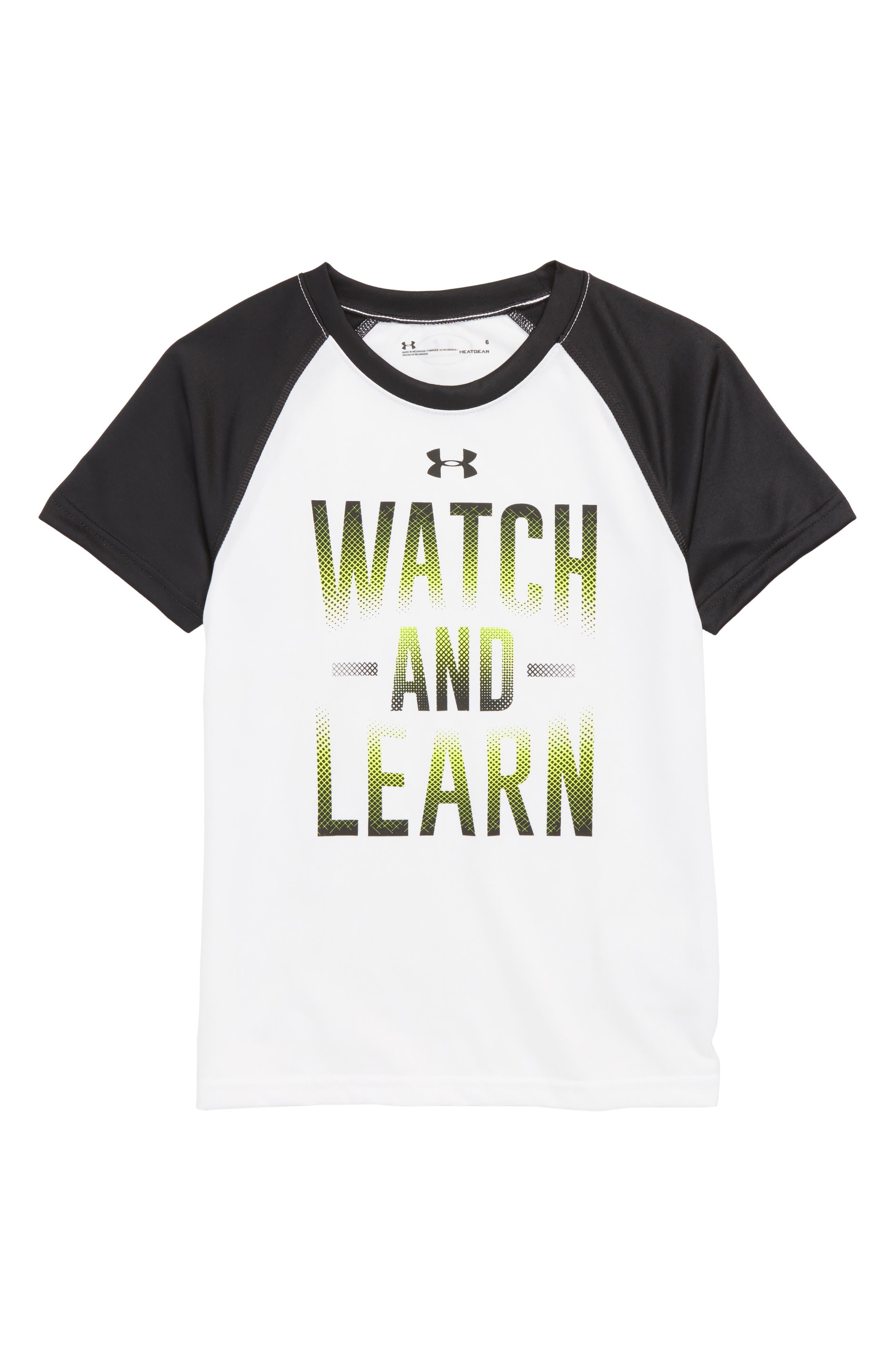 Watch & Learn HeatGear<sup>®</sup> T-Shirt,                         Main,                         color, 100