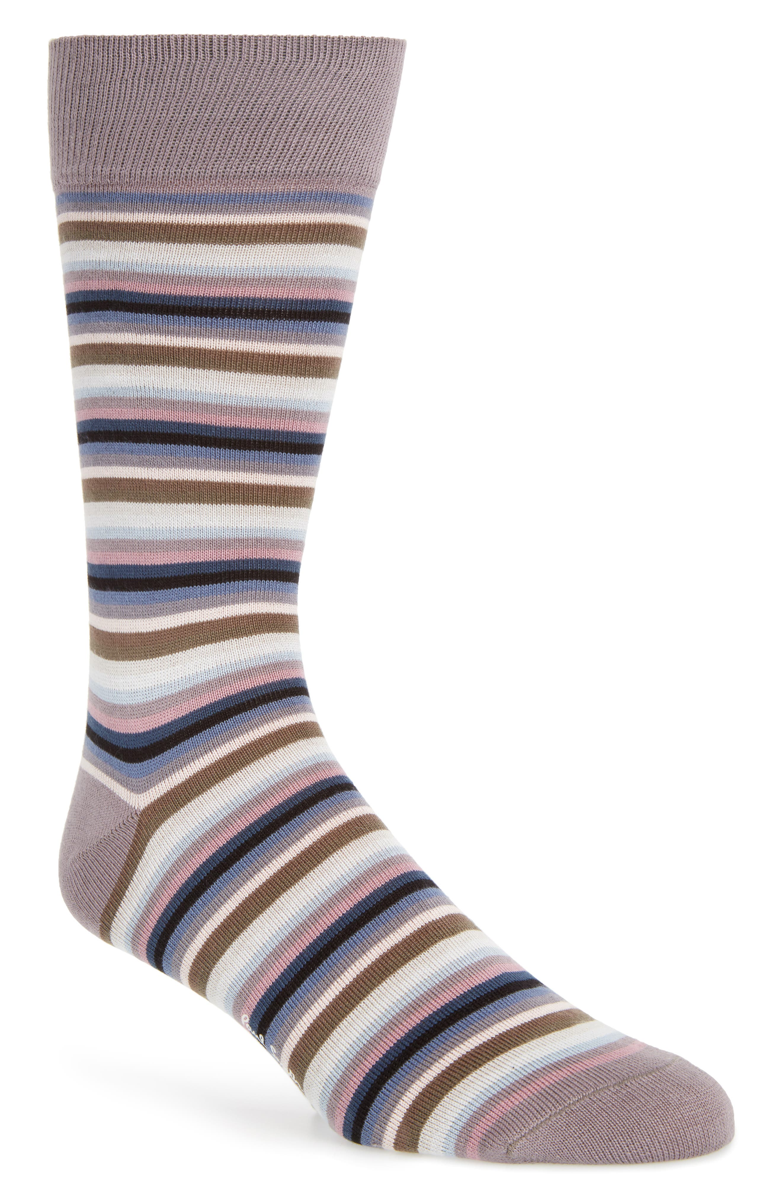 Degradé Stripe Socks,                         Main,                         color, 020