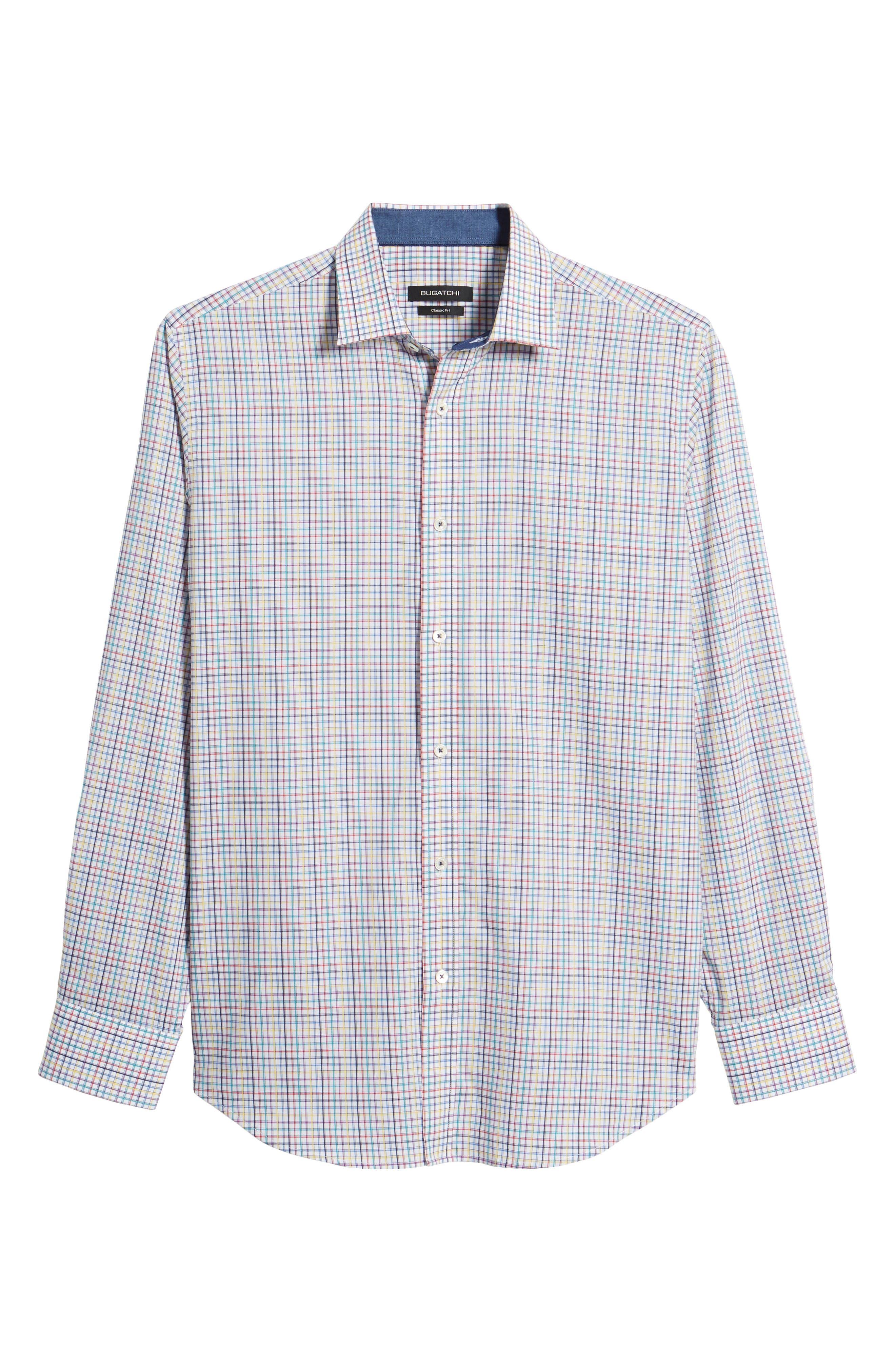 Classic Fit Woven Sport Shirt,                             Alternate thumbnail 6, color,                             601