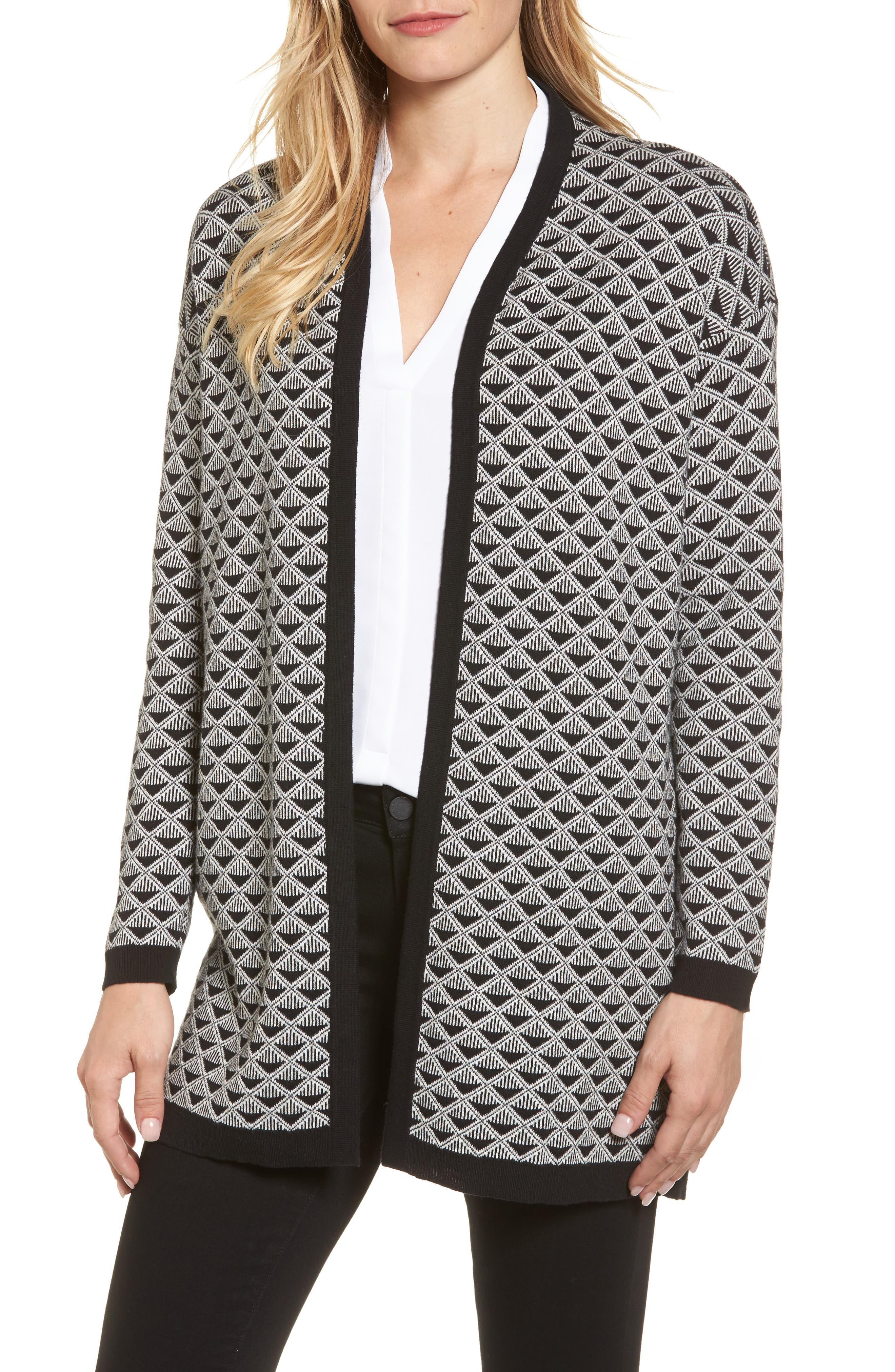 Geometric Jacquard Sweater,                             Main thumbnail 1, color,                             010