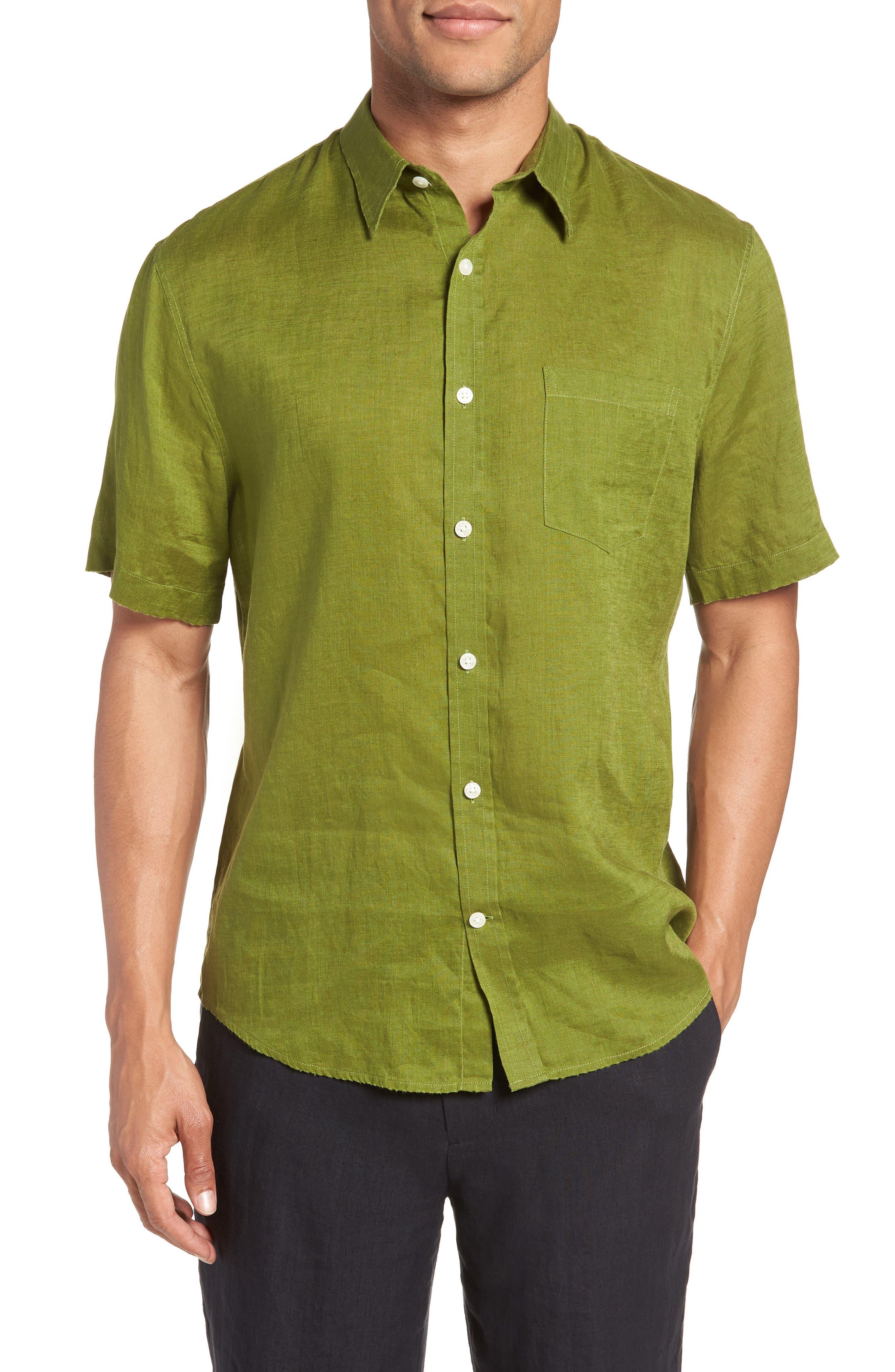 Classic Fit Sport Shirt,                         Main,                         color, PASTURE