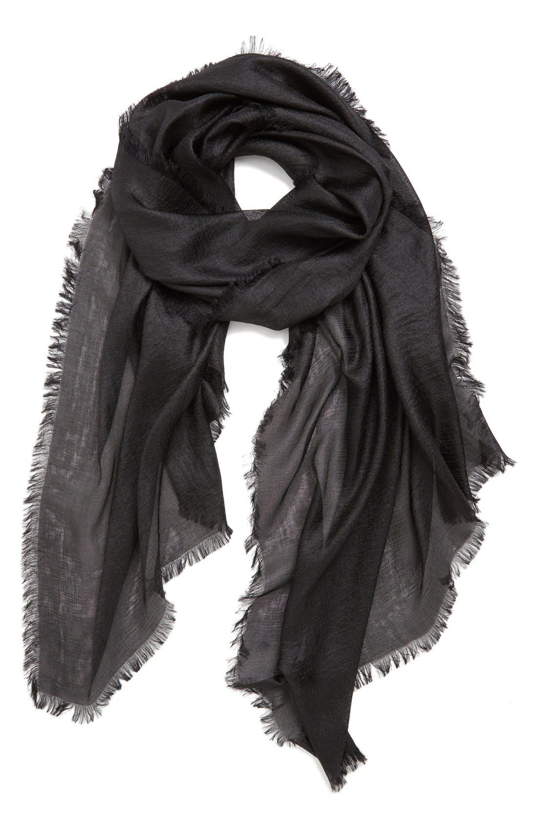 'Radiance' Eyelash Fringe Wrap,                         Main,                         color, BLACK