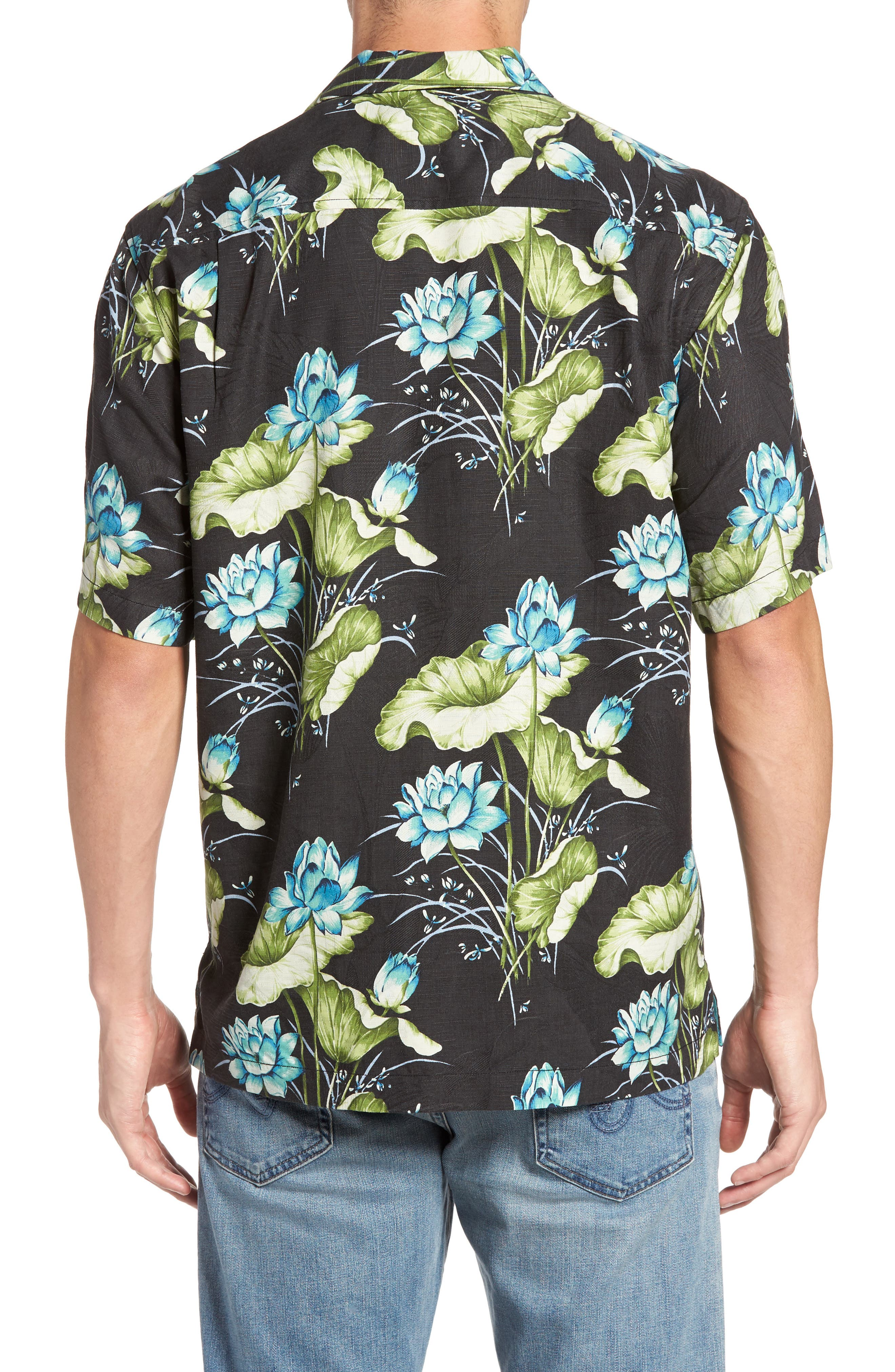 Adriatic Garden Silk Blend Camp Shirt,                             Alternate thumbnail 2, color,                             021