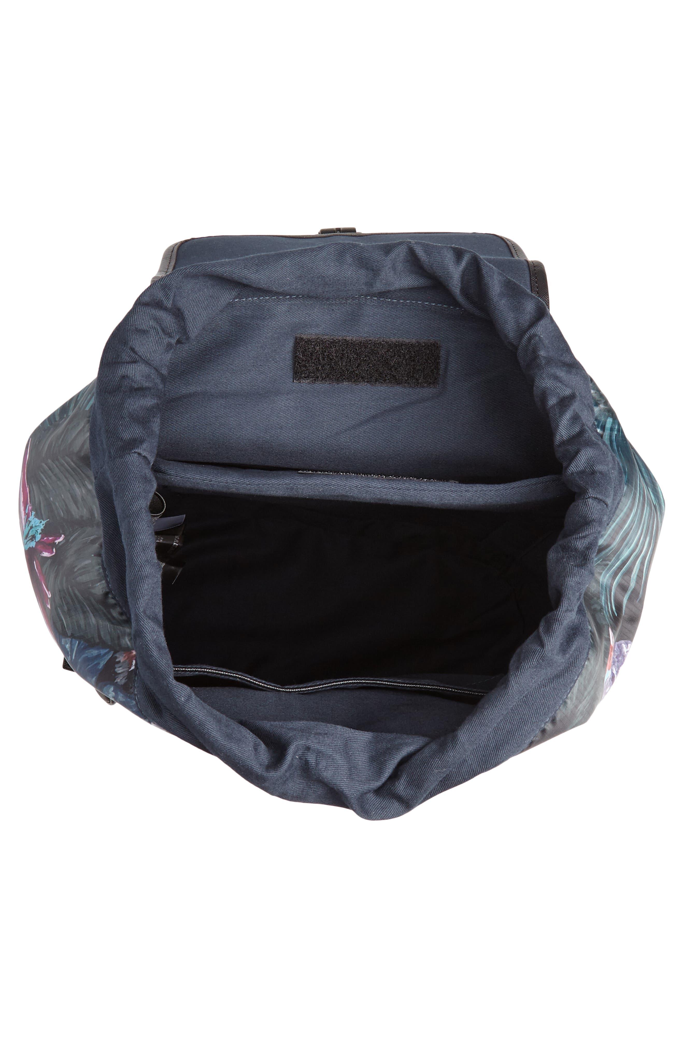 Revving Print Backpack,                             Alternate thumbnail 4, color,                             BLACK