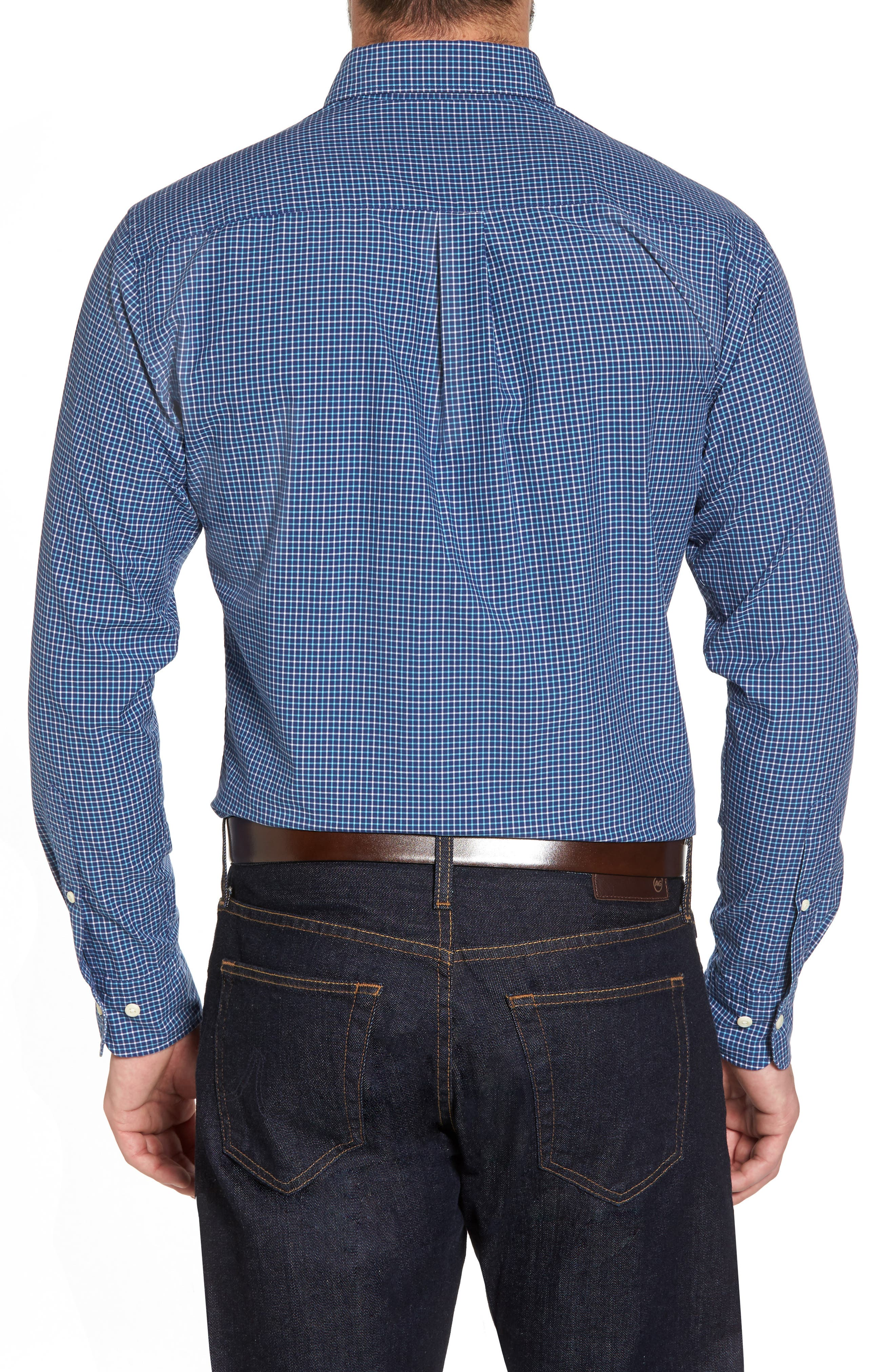 Crown Finish Marsh Regular Fit Check Sport Shirt,                             Alternate thumbnail 2, color,                             437