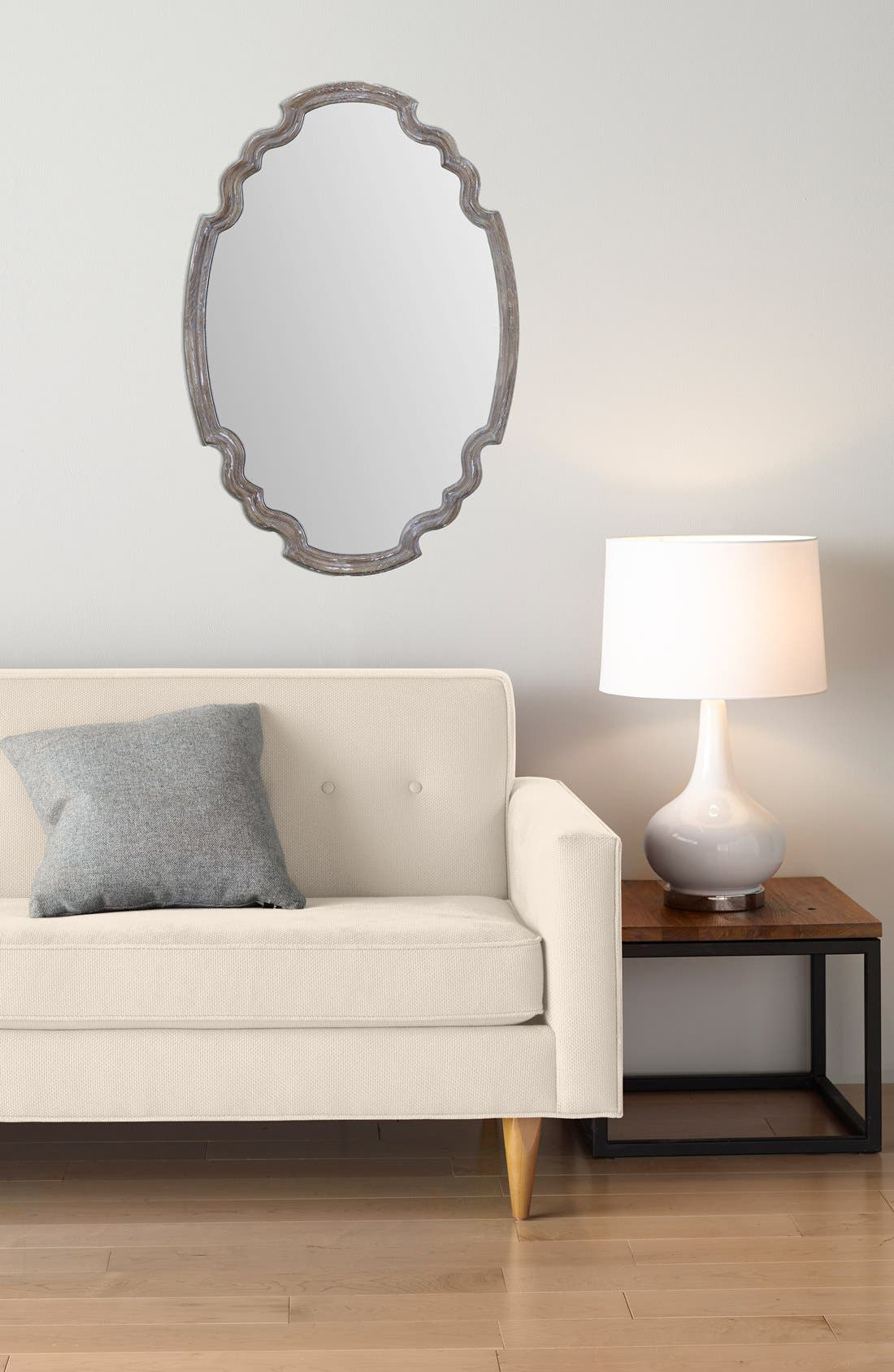 'Ludovica' Aged Finish Oval Wall Mirror,                             Alternate thumbnail 2, color,                             020