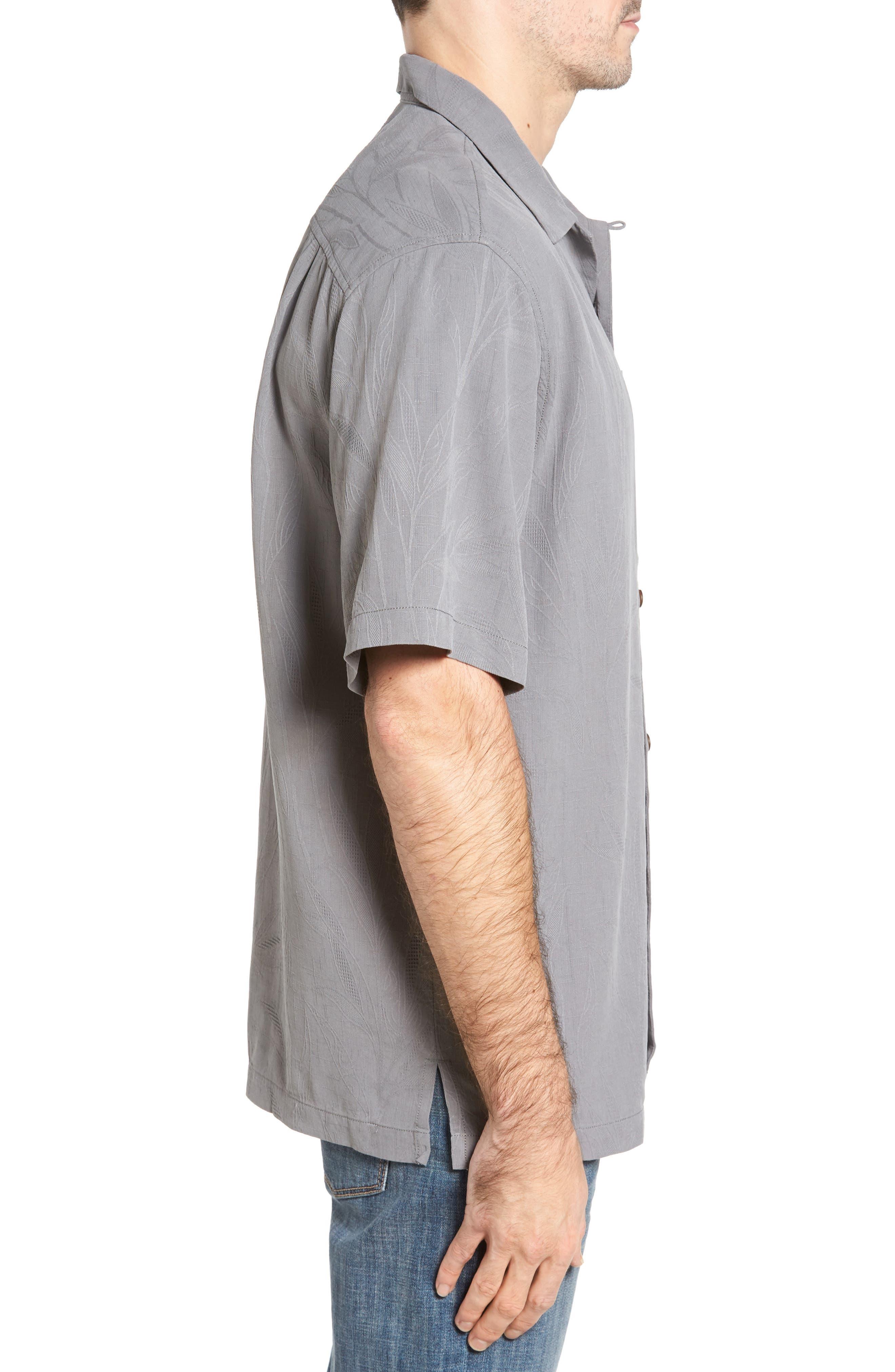 Islander Fronds Silk Camp Shirt,                             Alternate thumbnail 20, color,
