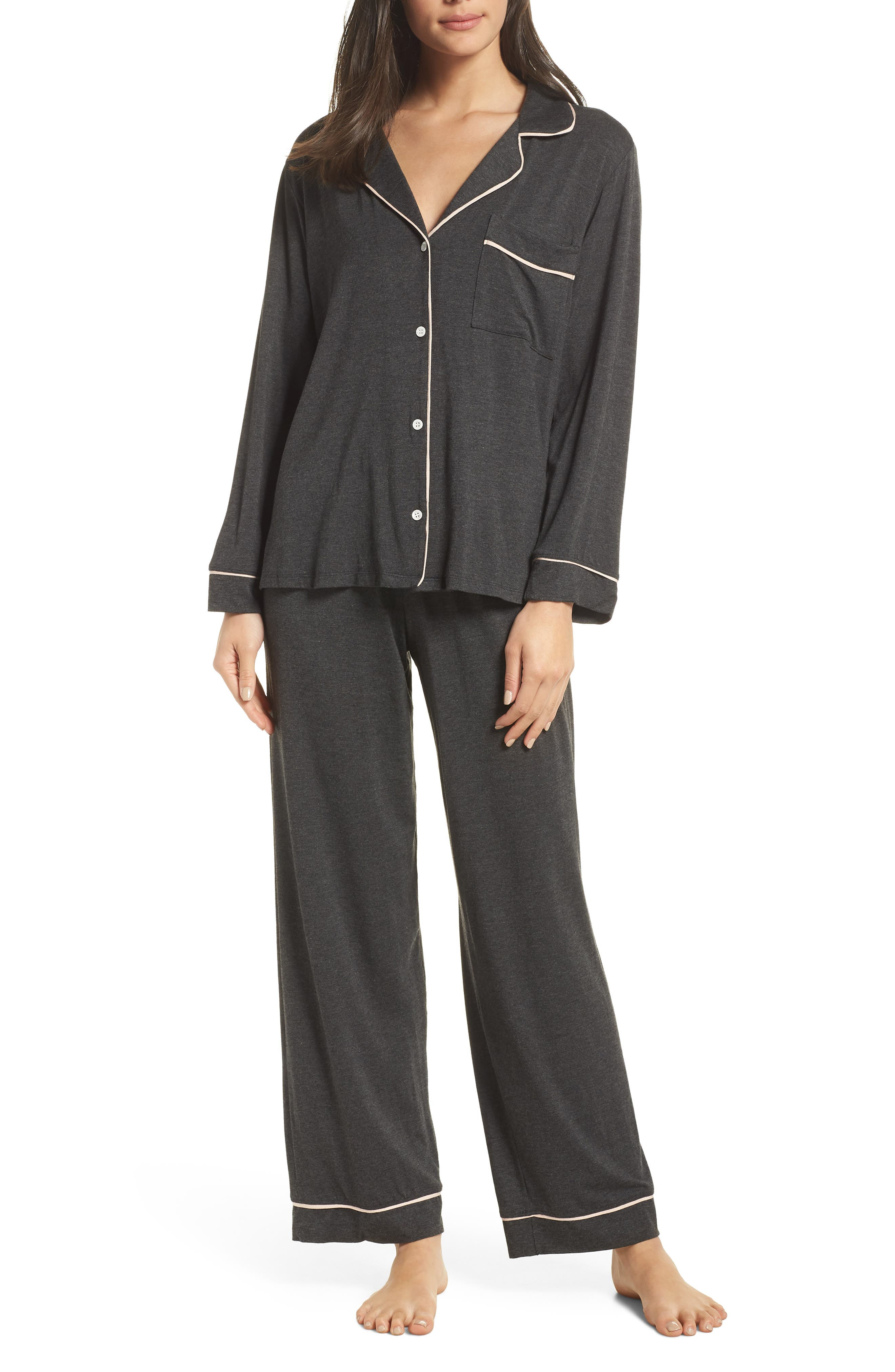 Gisele Pajamas,                         Main,                         color, CHARCOAL/ BELLINI