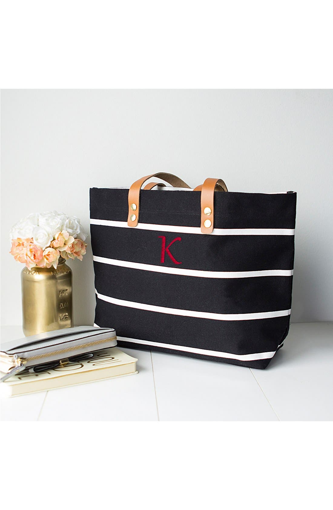 Monogram Stripe Tote,                             Alternate thumbnail 271, color,