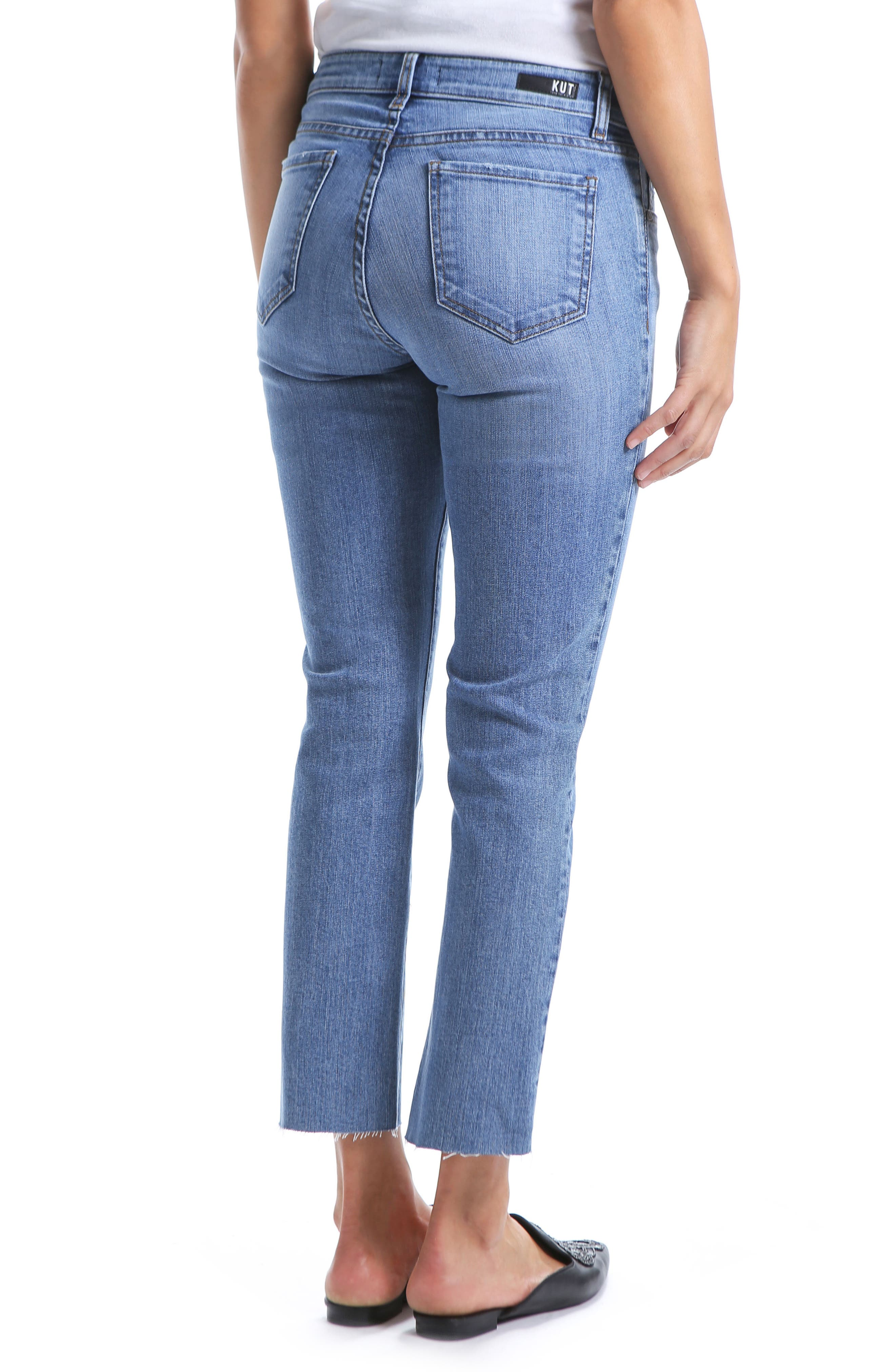 Reese Straight Leg Ankle Jeans,                             Alternate thumbnail 2, color,                             EQUILIBRIUM
