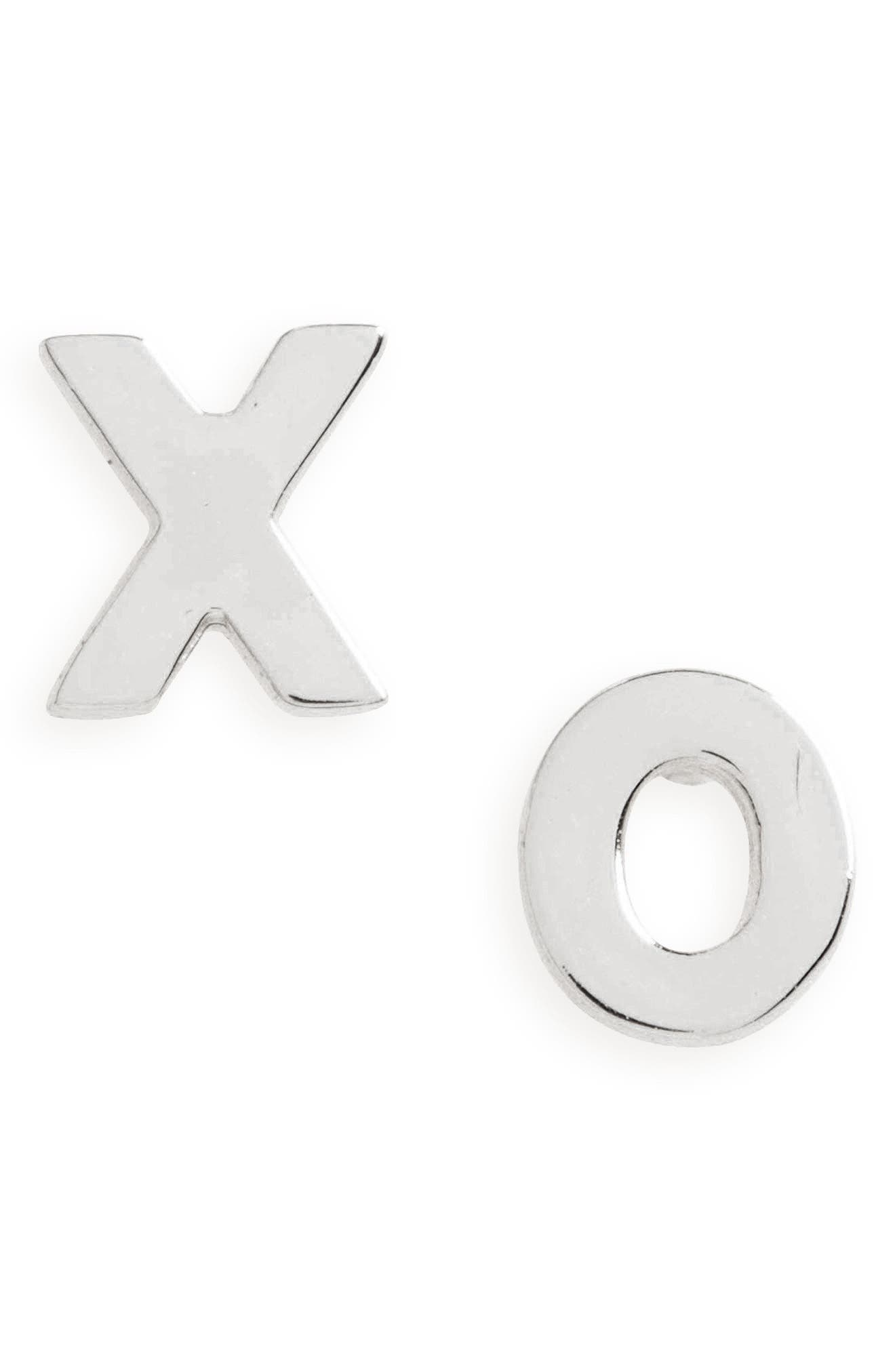 XO Stud Earrings,                             Main thumbnail 1, color,
