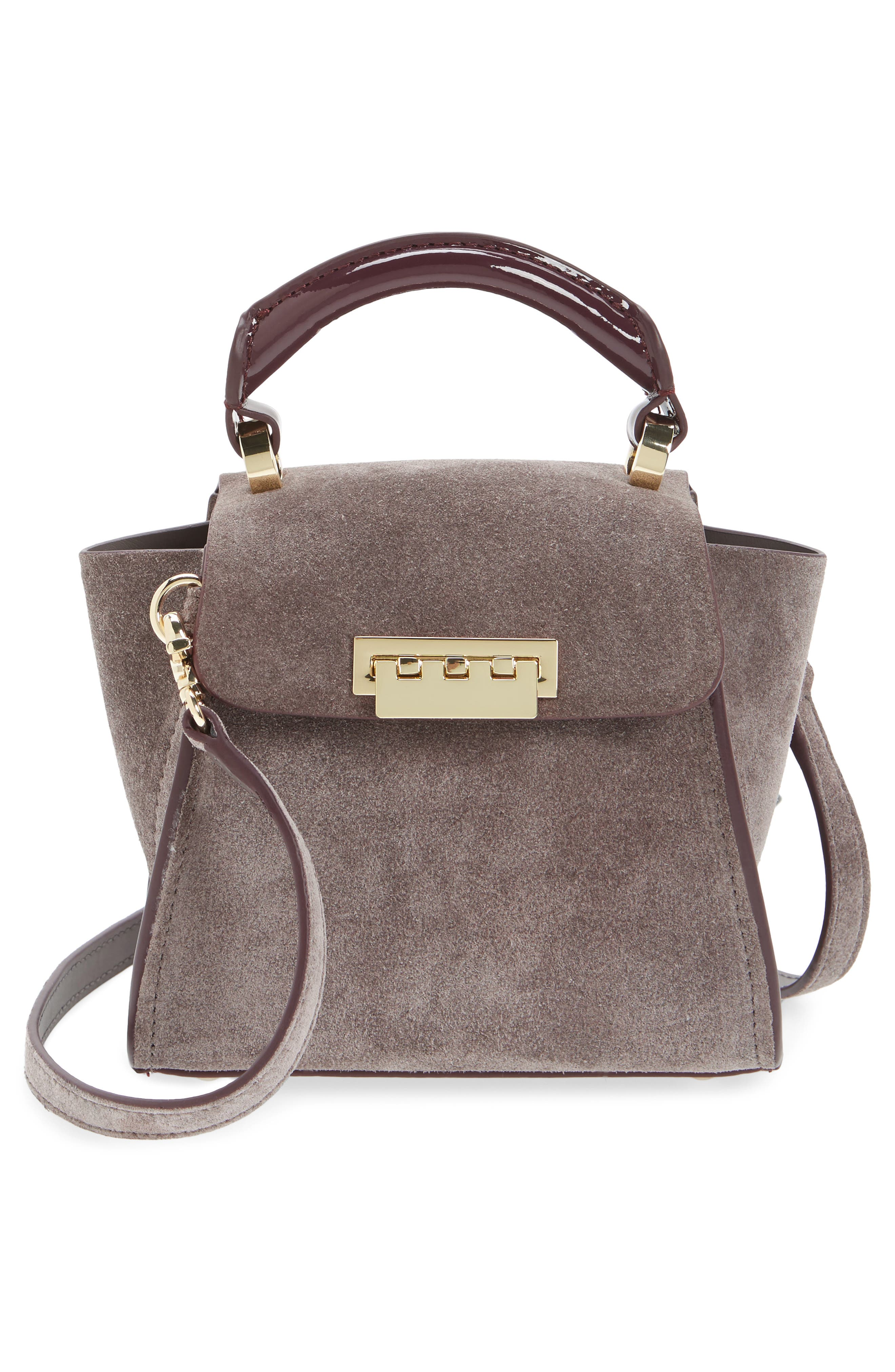 Mini Eartha Iconic Calfskin Suede Top Handle Satchel,                             Alternate thumbnail 3, color,                             532