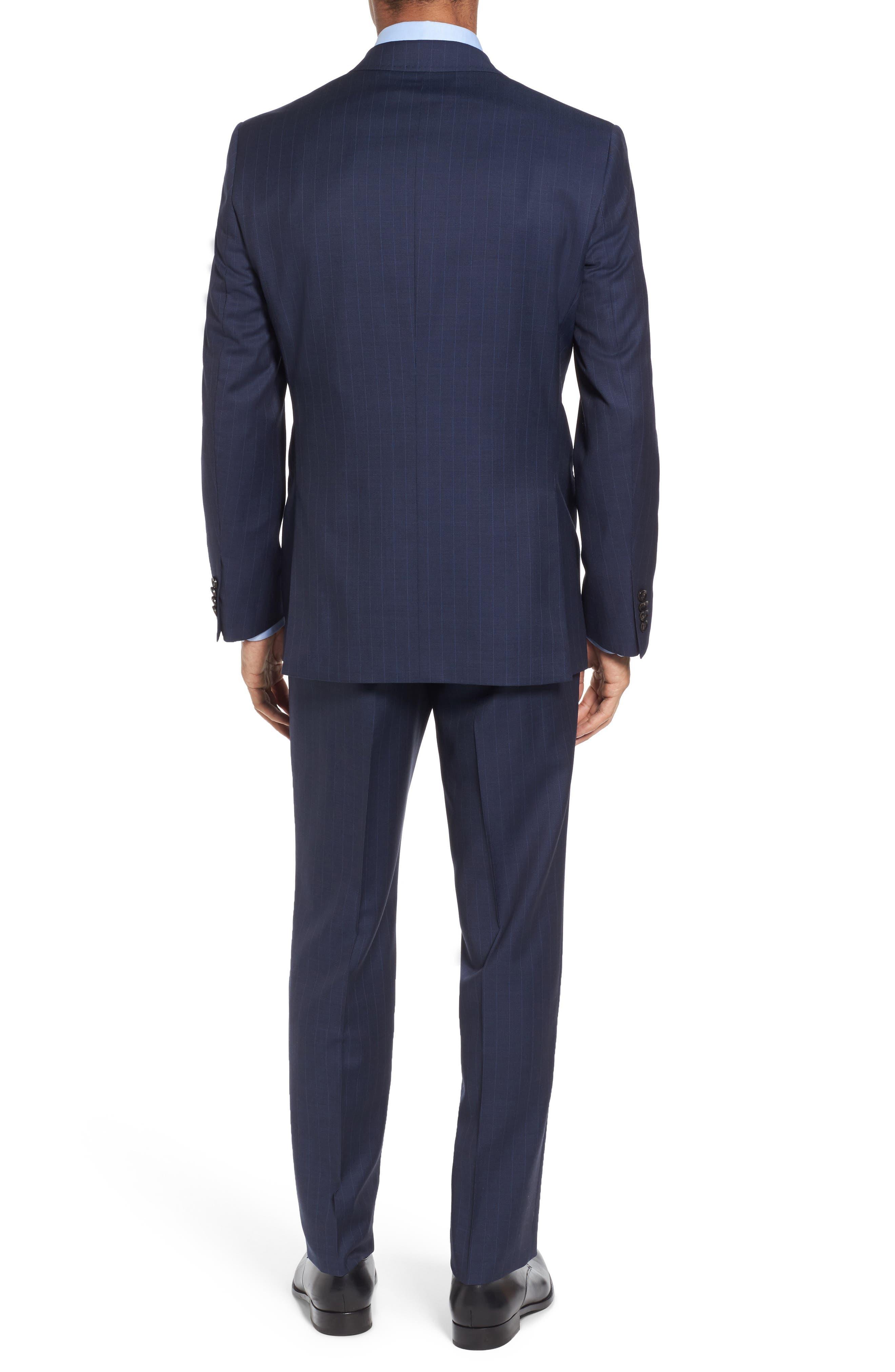 Jay Trim Fit Stripe Wool Suit,                             Alternate thumbnail 2, color,                             400
